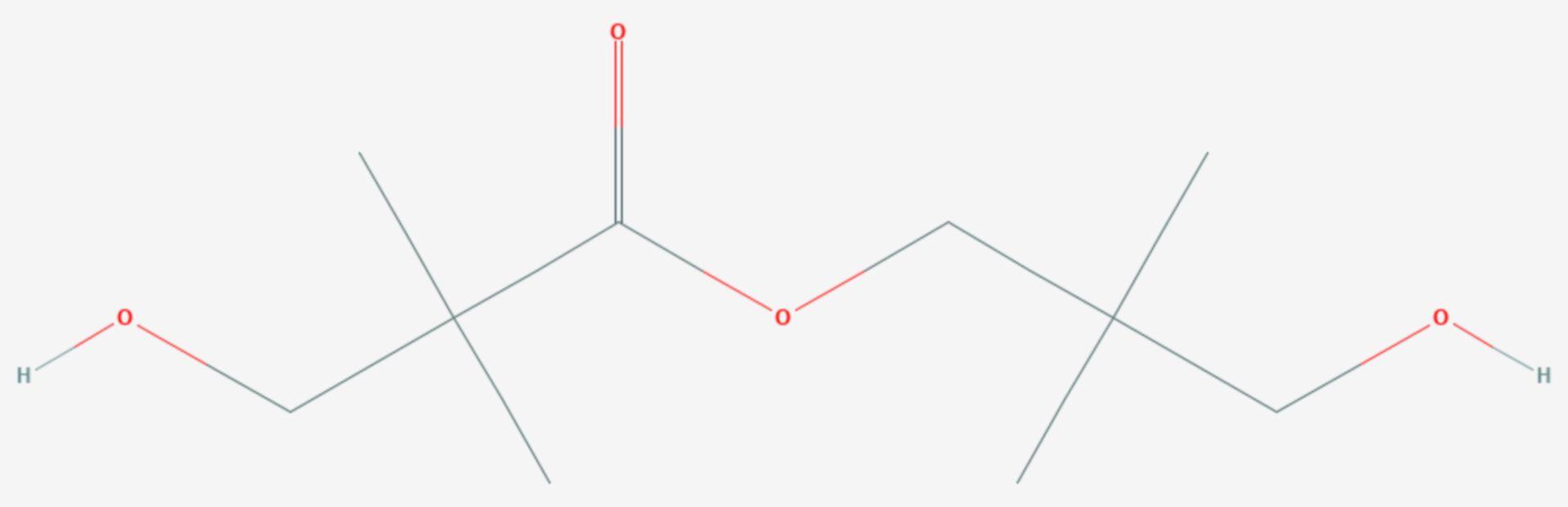 Hydroxypivalinsäureneopentylglycolester (Strukturformel)