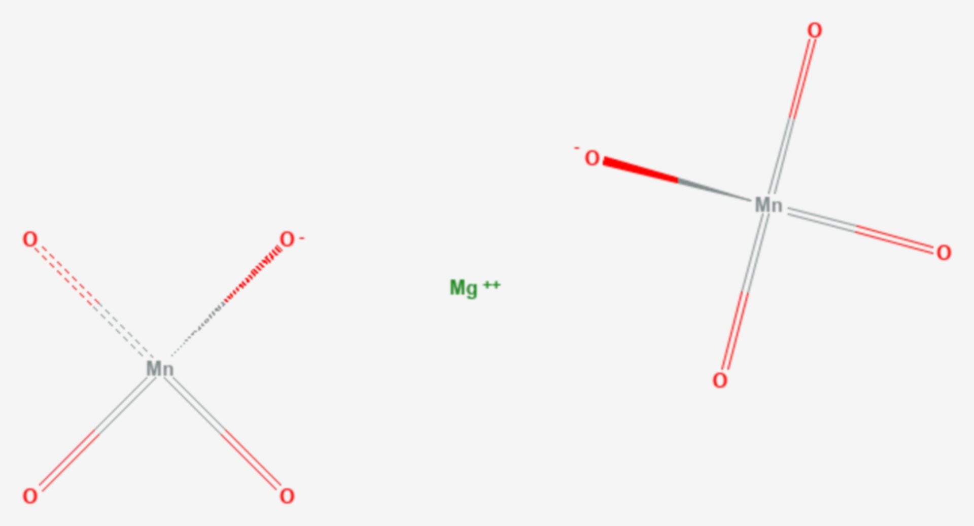 Magnesiumpermanganat (Strukturformel)