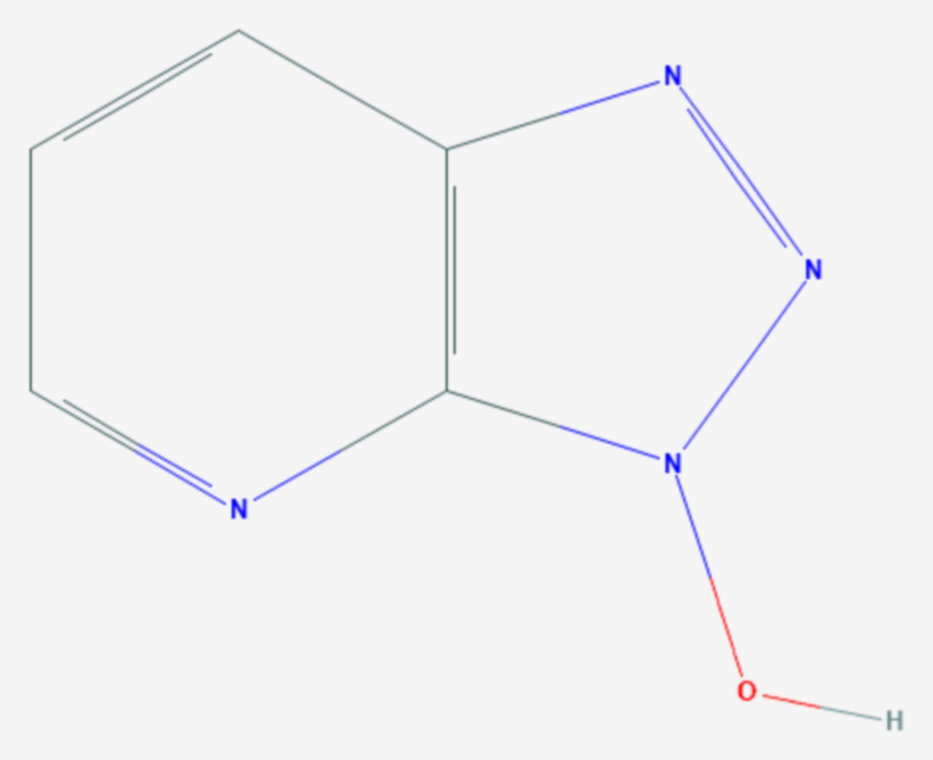 1-Hydroxy-7-azabenzotriazol (Strukturformel)