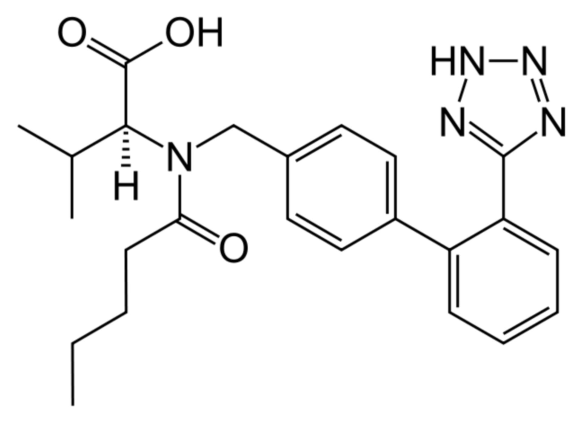 Valsartan Strukturformel 2D