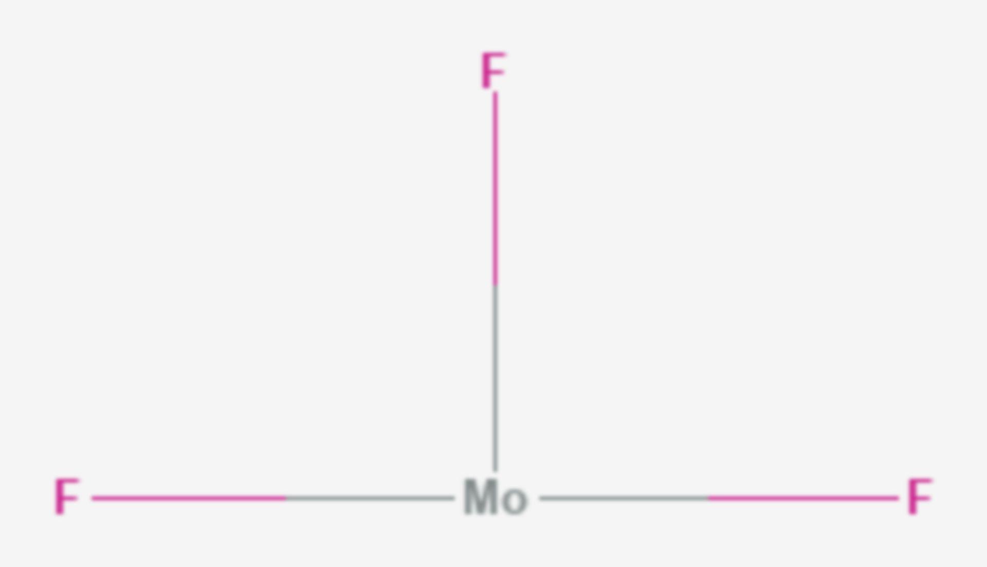 Molybdän(III)-fluorid (Strukturformel)