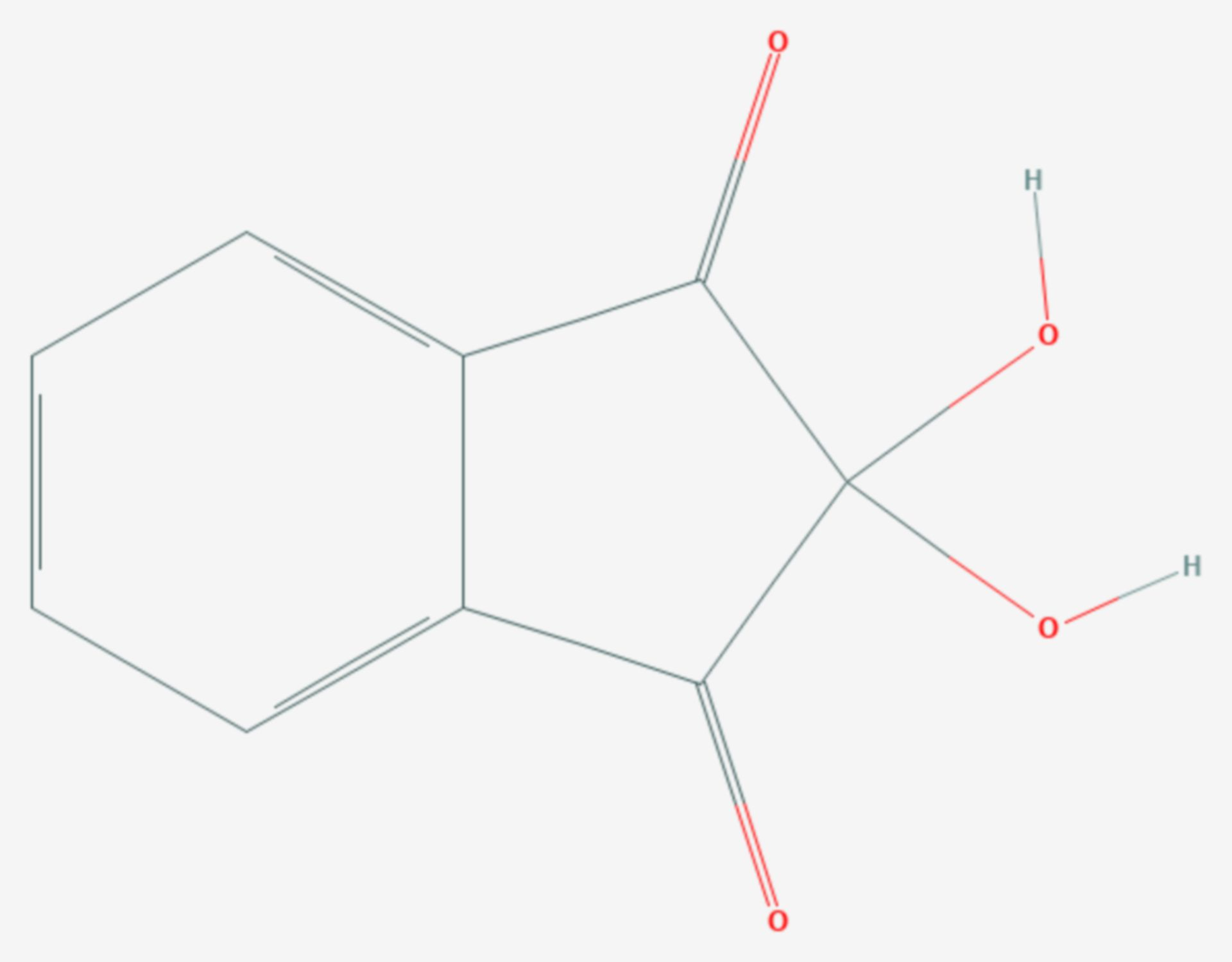 Ninhydrin (Strukturformel)