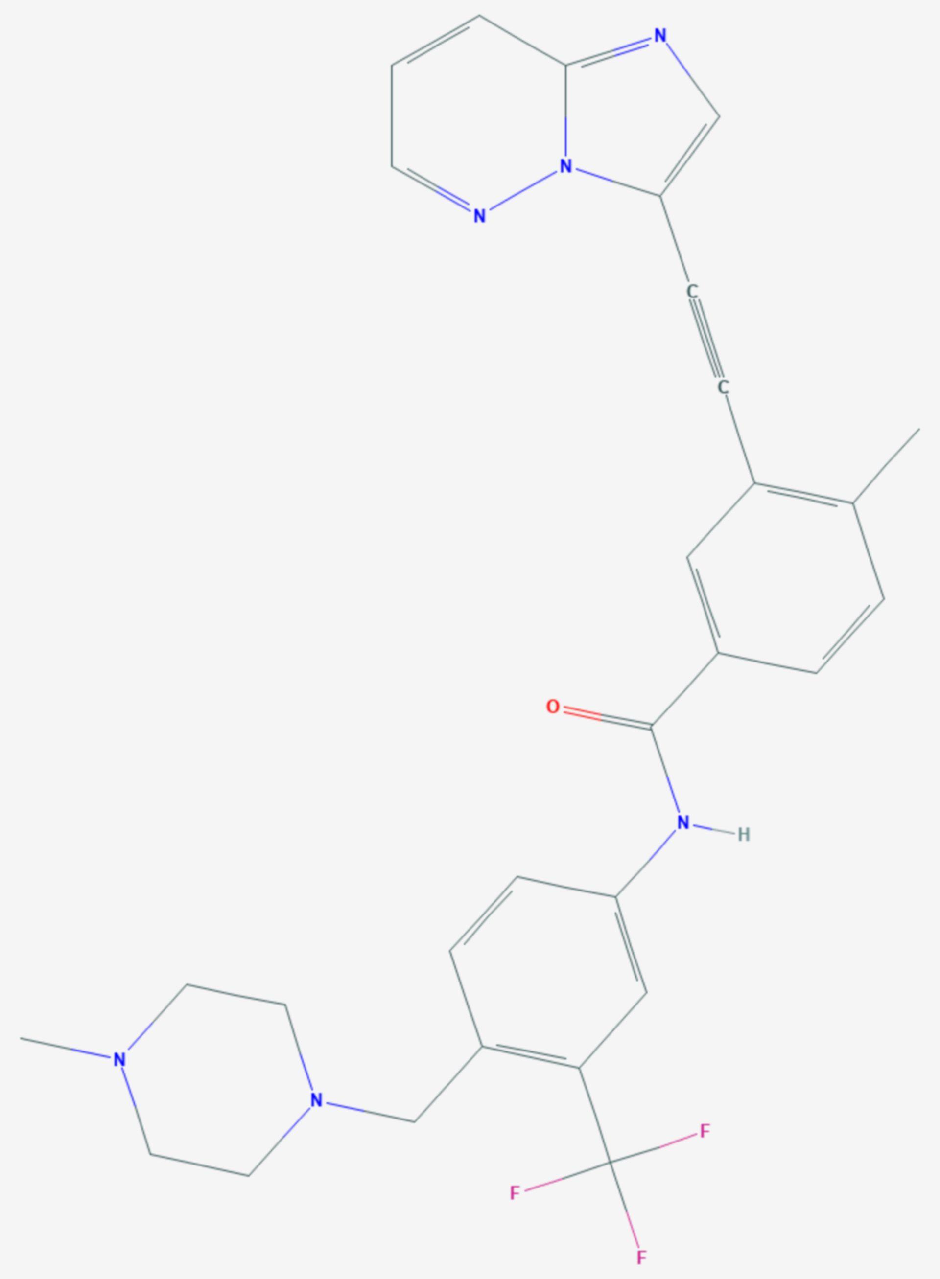 Ponatinib (Strukturformel)