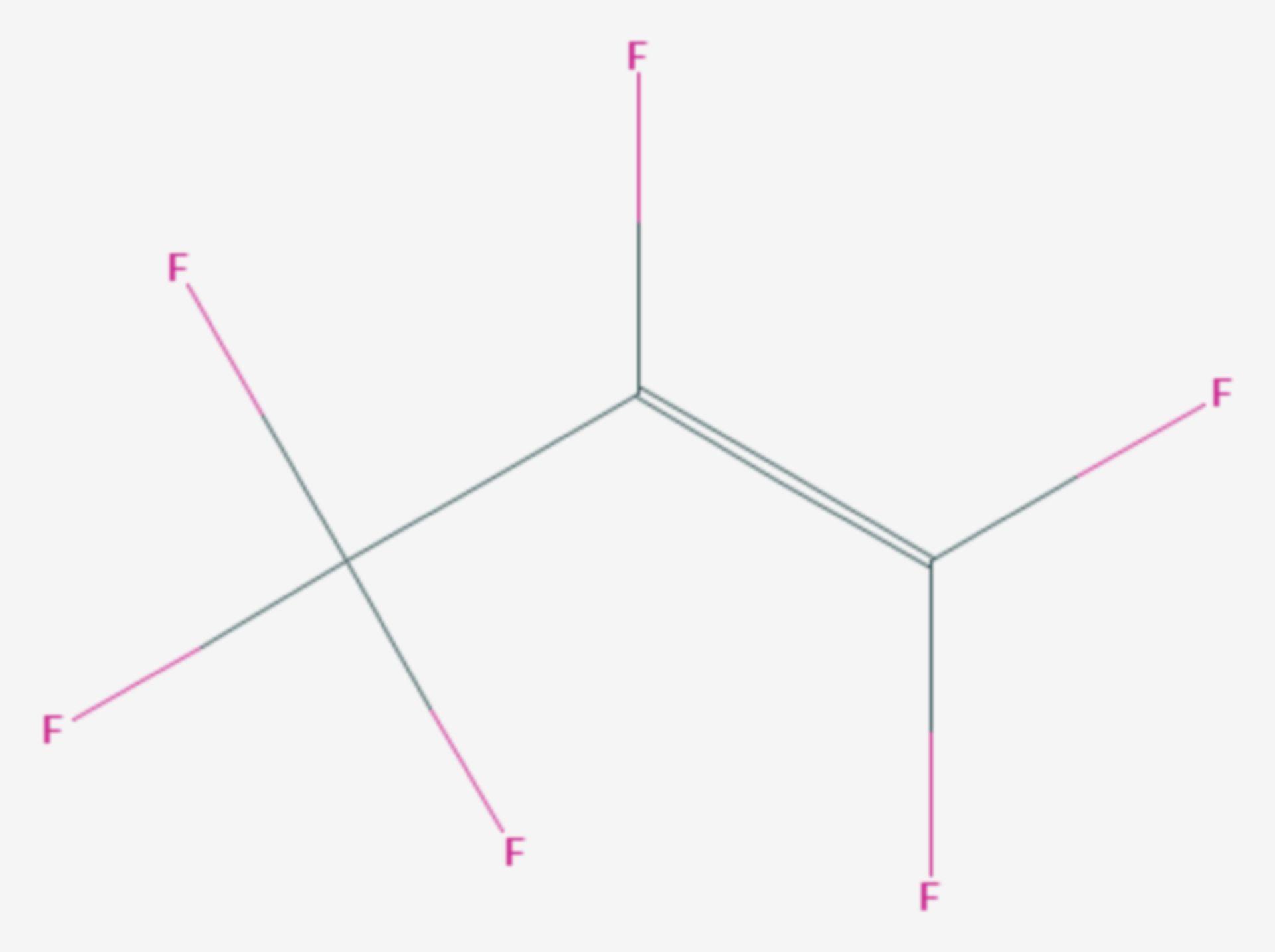 Hexafluorpropen (Strukturformel)