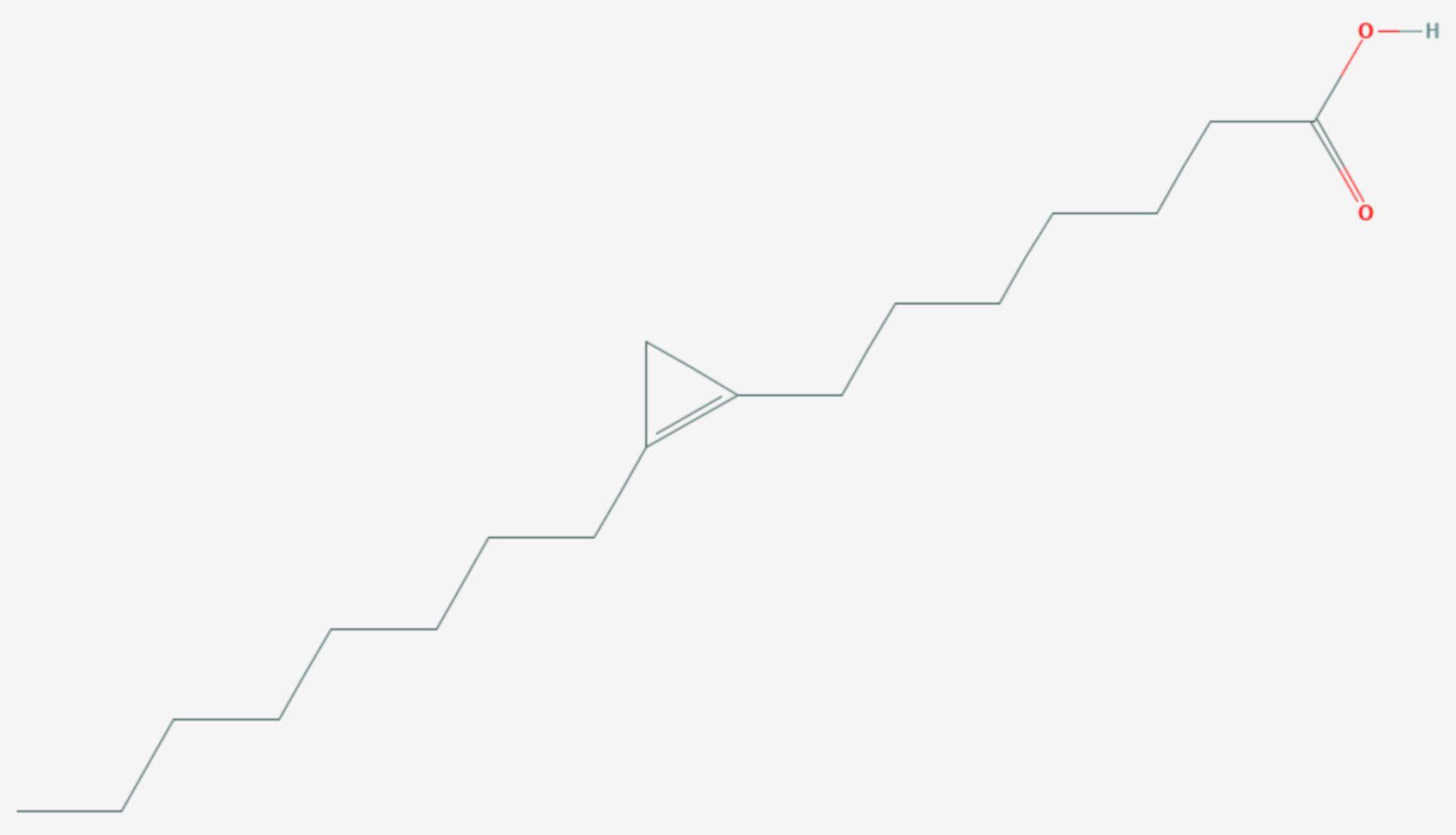 Malvalsäure (Strukturformel)