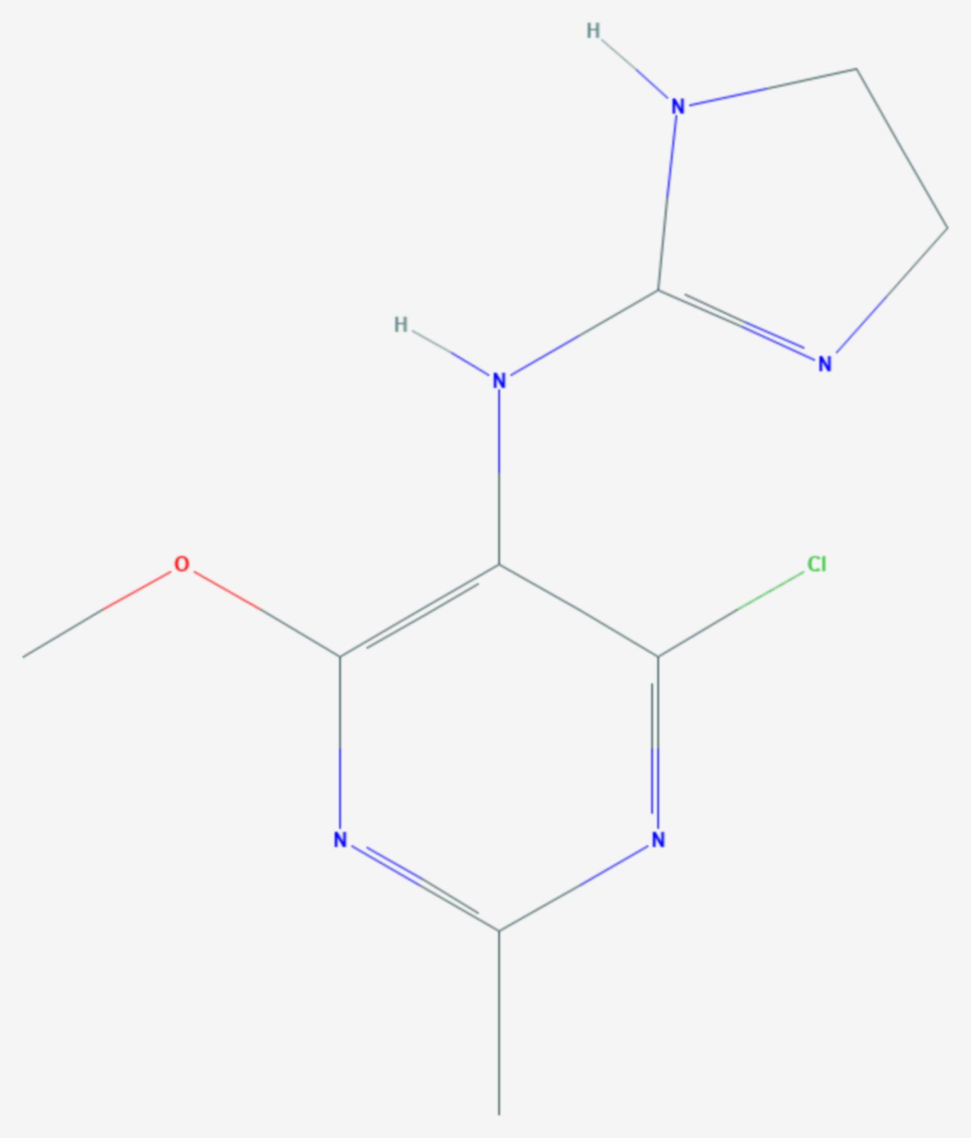 Moxonidin (Strukturformel)