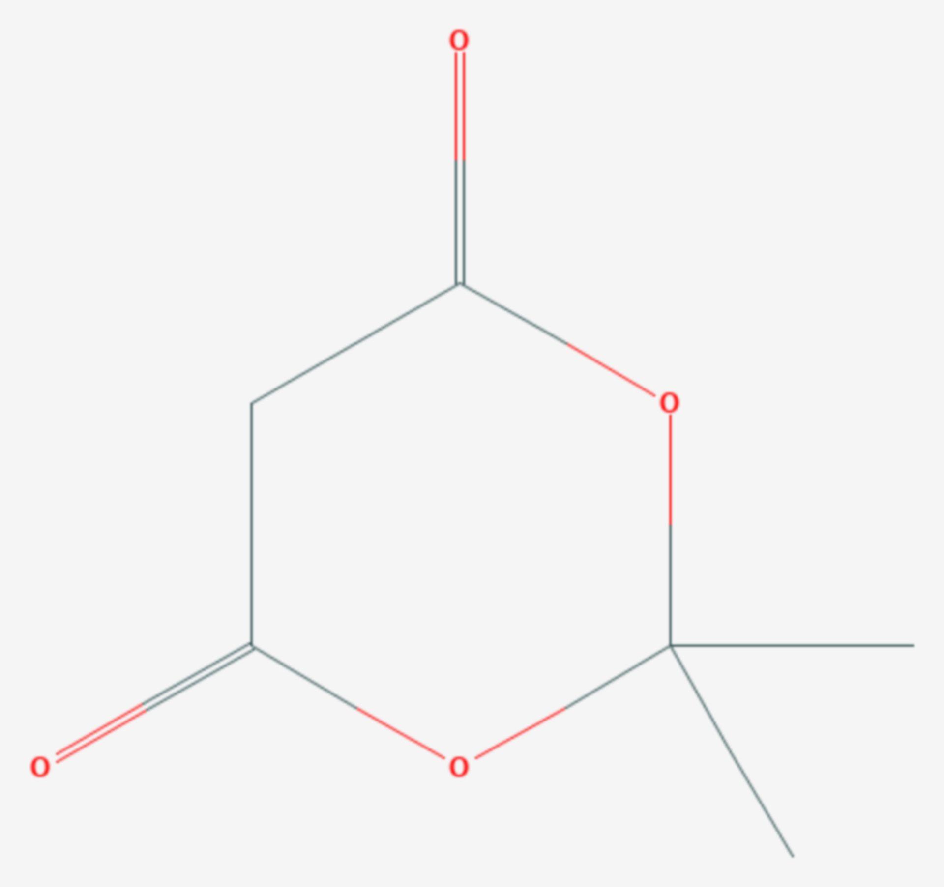 Meldrumsäure (Strukturformel)