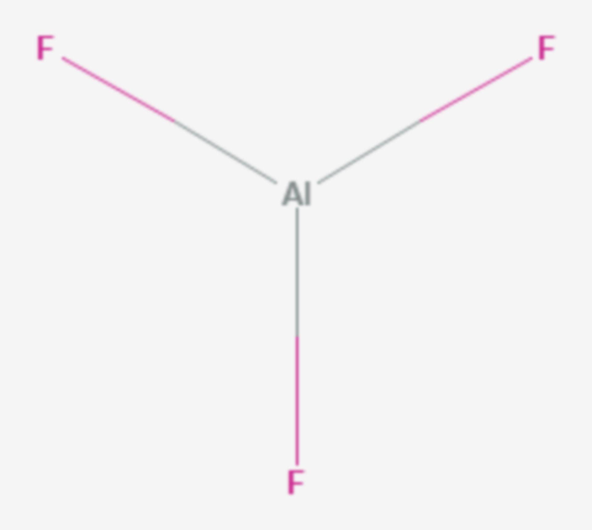 Aluminiumfluorid (Strukturformel)