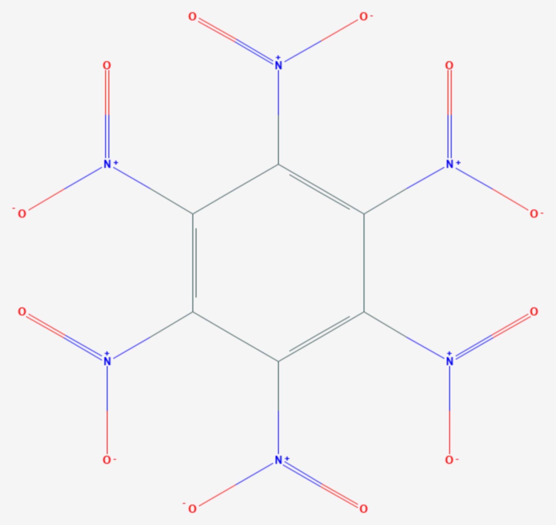 Hexanitrobenzol (Strukturformel)