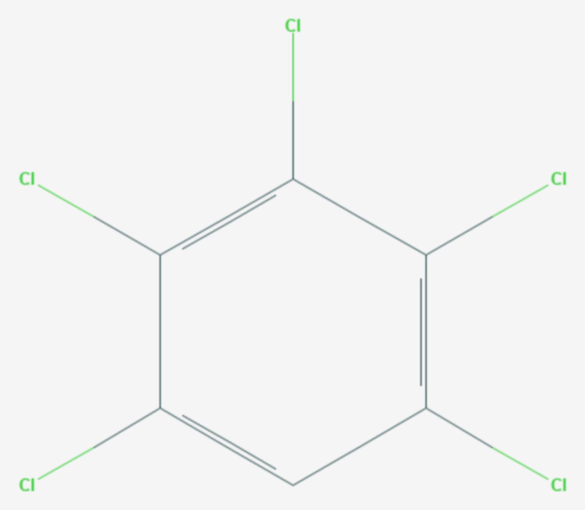 Pentachlorbenzol (Strukturformel)
