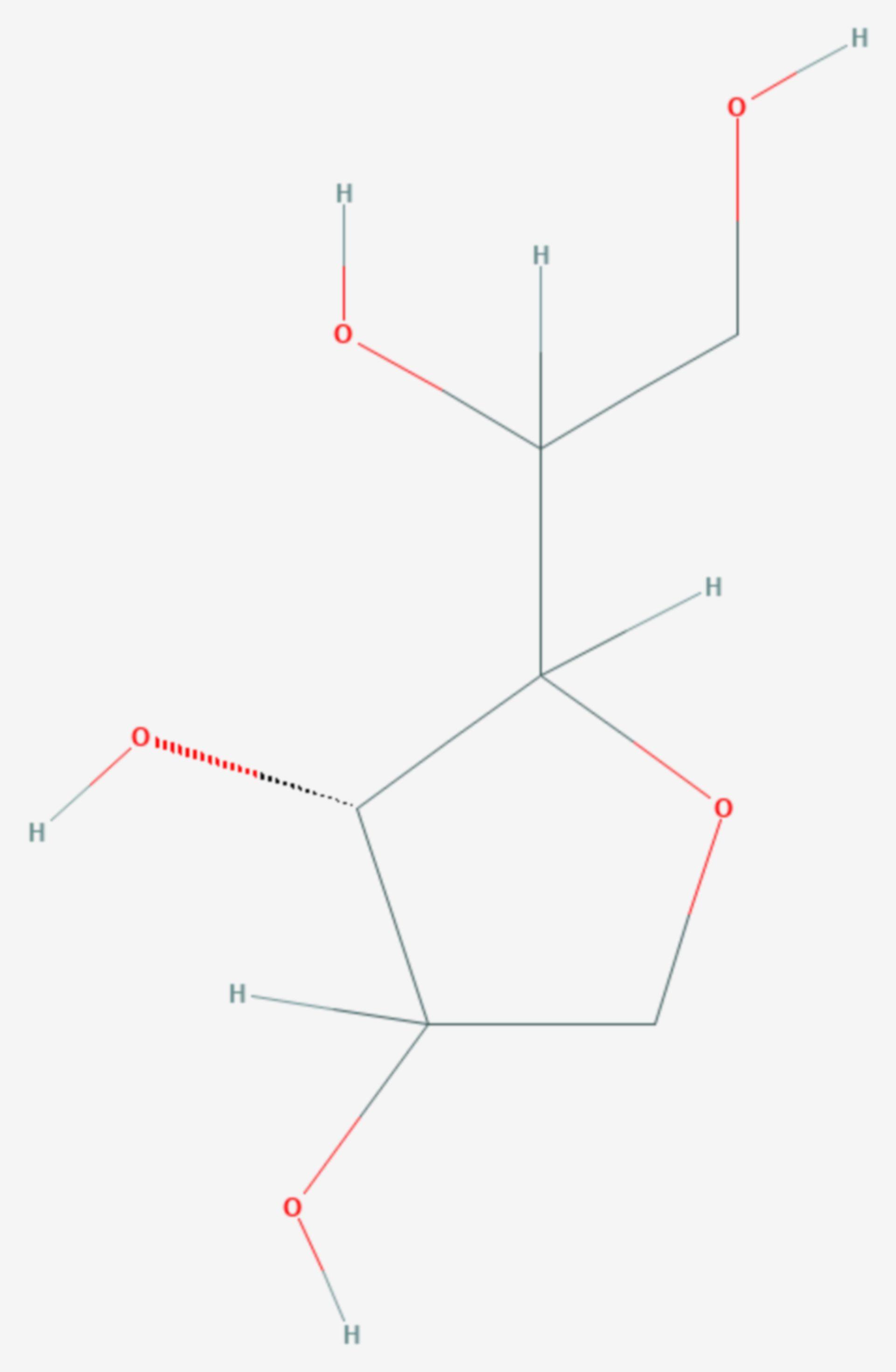 Sorbitan (Strukturformel)