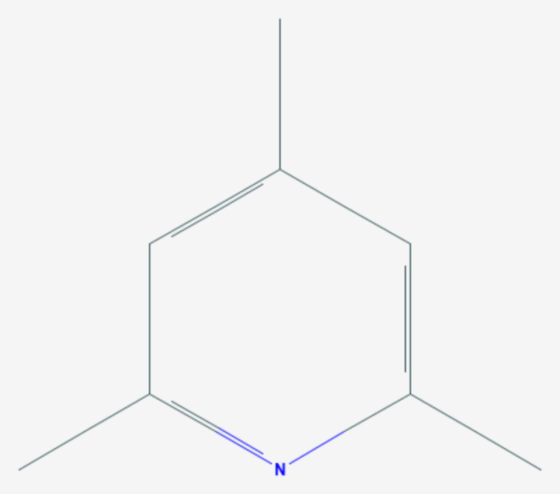 2,4,6-Collidin (Strukturformel)
