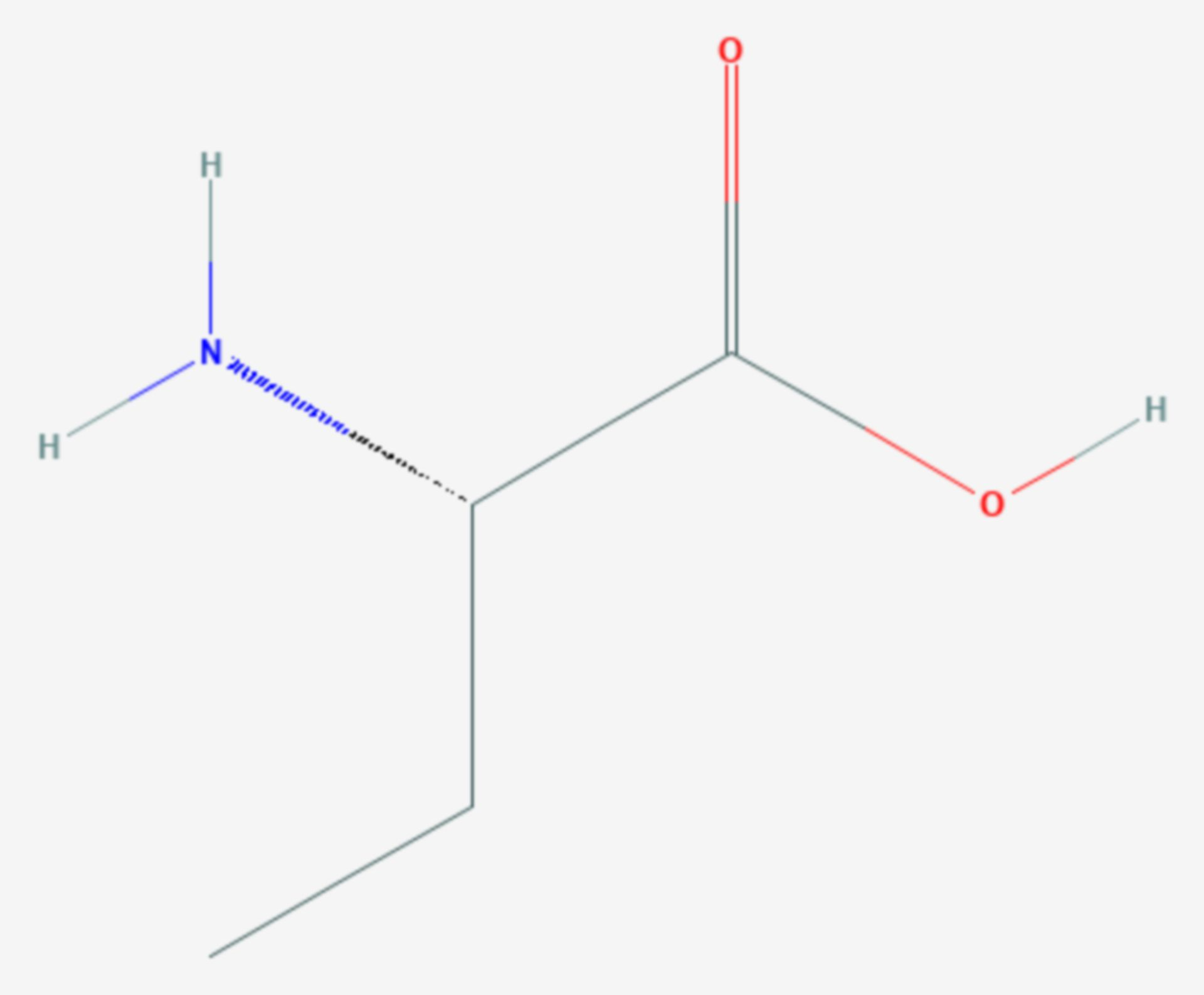 Α-Aminobuttersäure (Strukturformel)