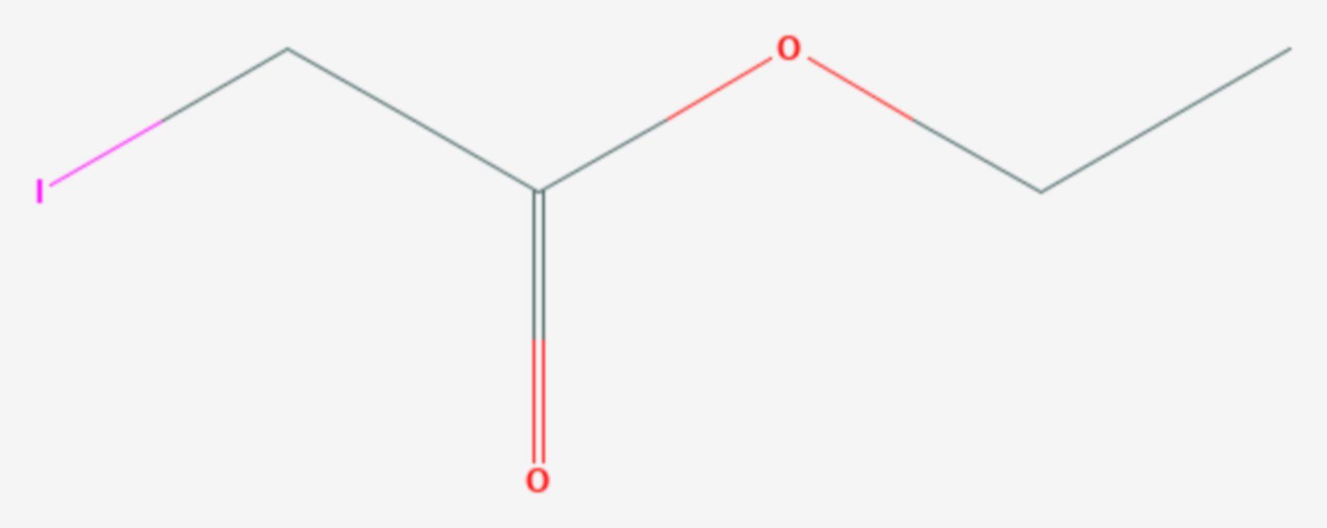 Iodessigsäureethylester (Strukturformel)