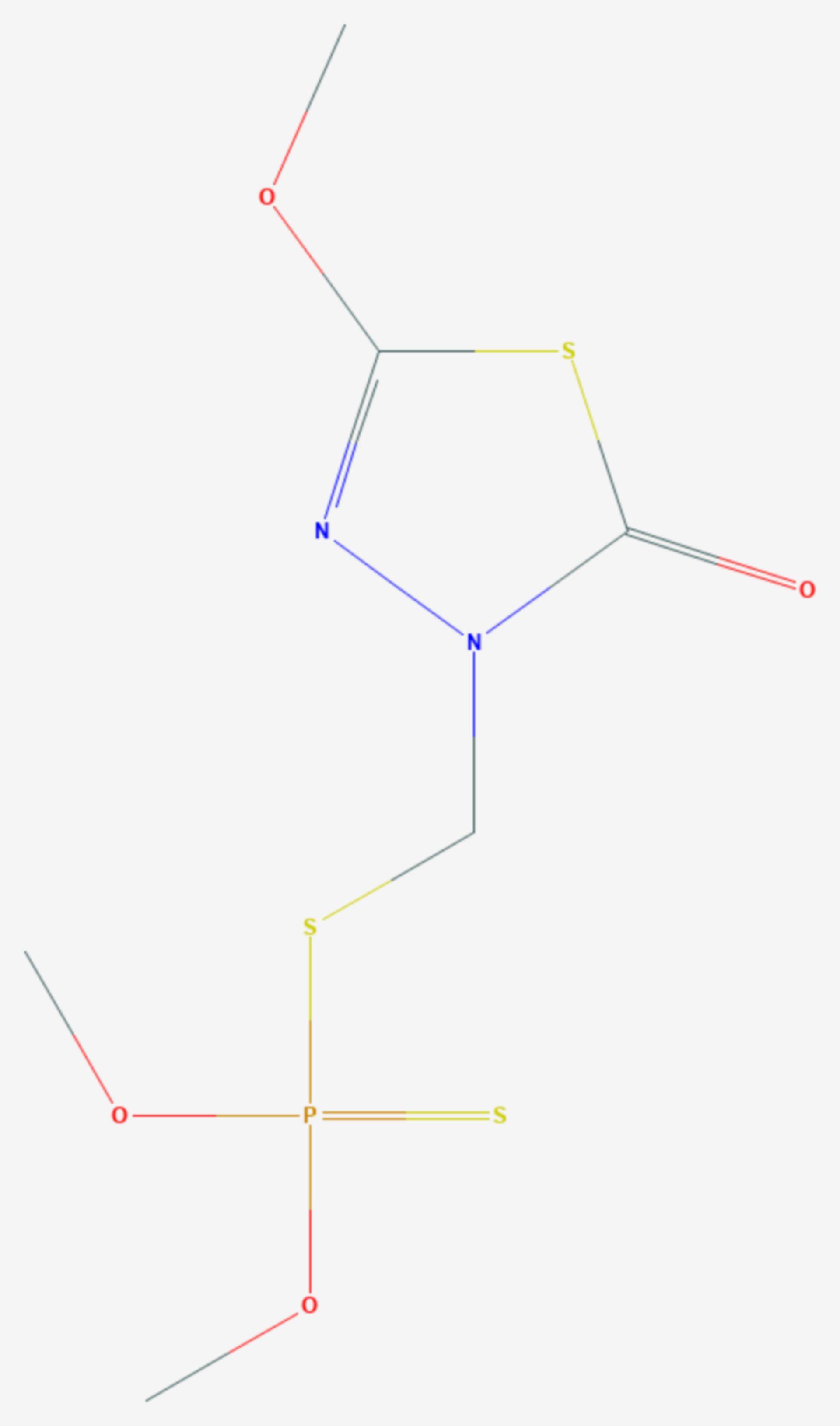 Methidathion (Strukturformel)