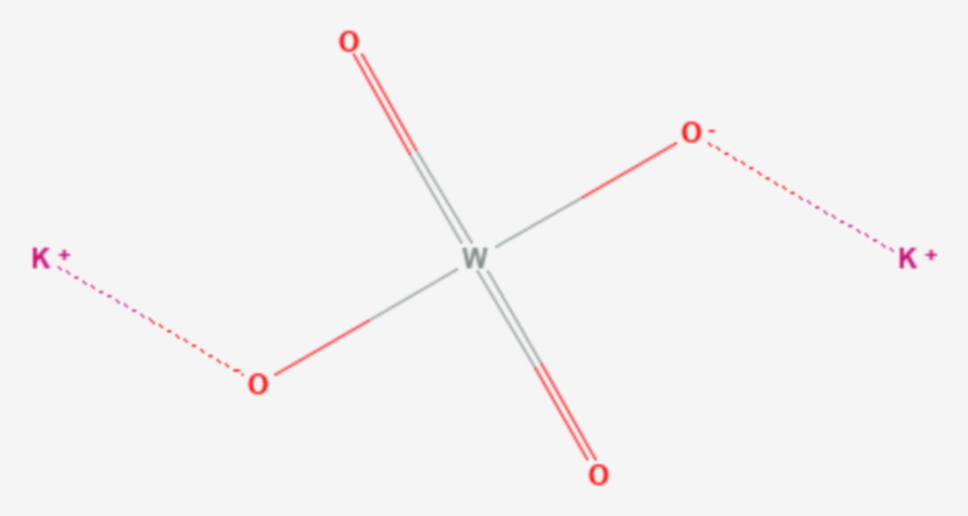 Kaliumwolframat (Strukturformel)