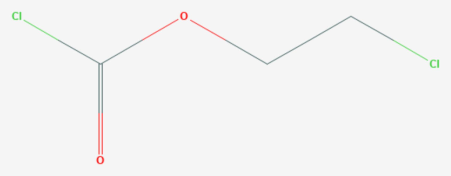 Chlorameisensäure-2-chlorethylester (Strukturformel)