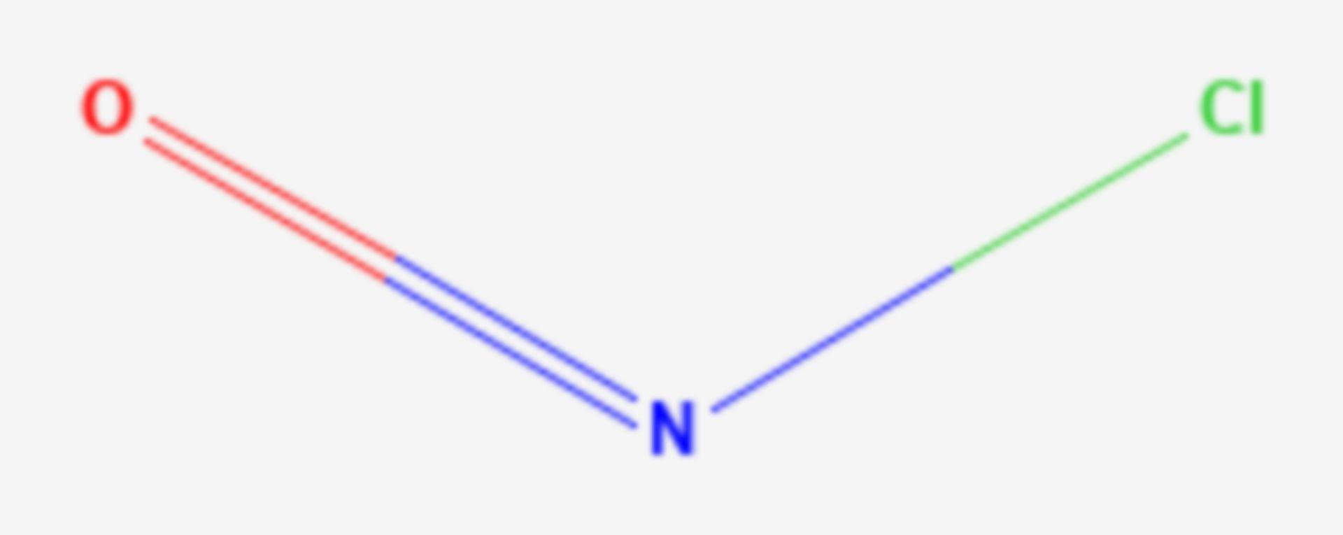 Nitrosylchlorid (Strukturformel)