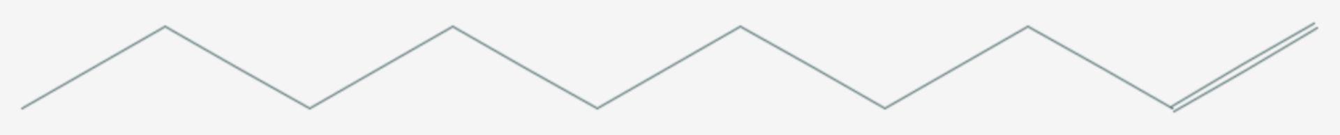 1-Decen (Strukturformel)