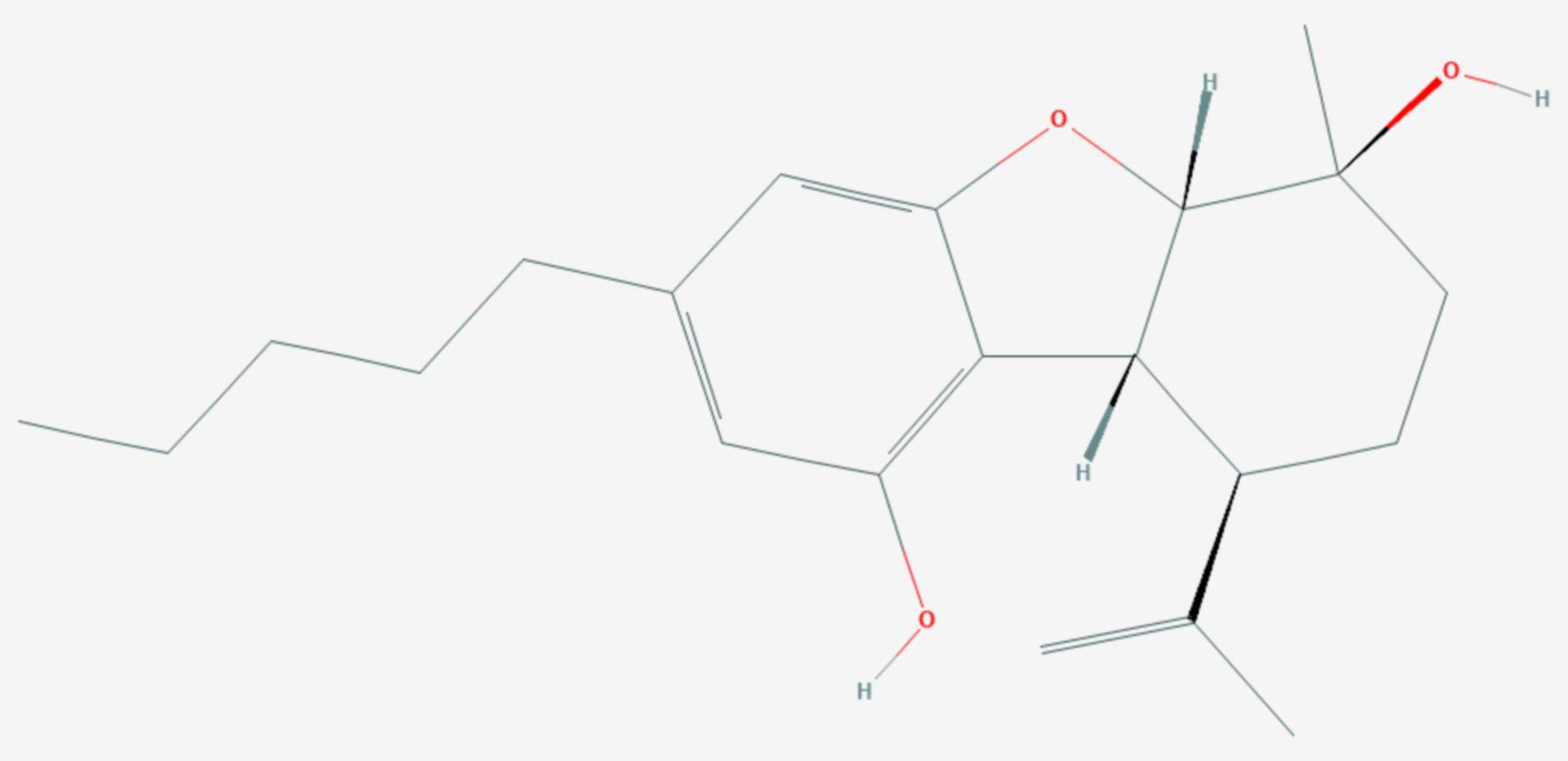 Cannabielsoin (Strukturformel)