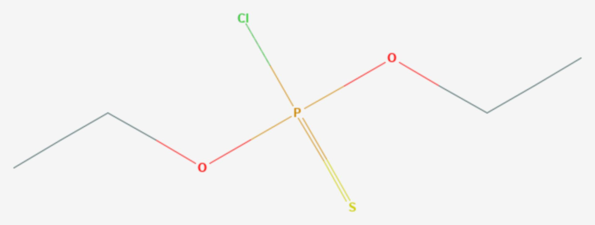 Diethylchlorthiophosphat (Strukturformel)
