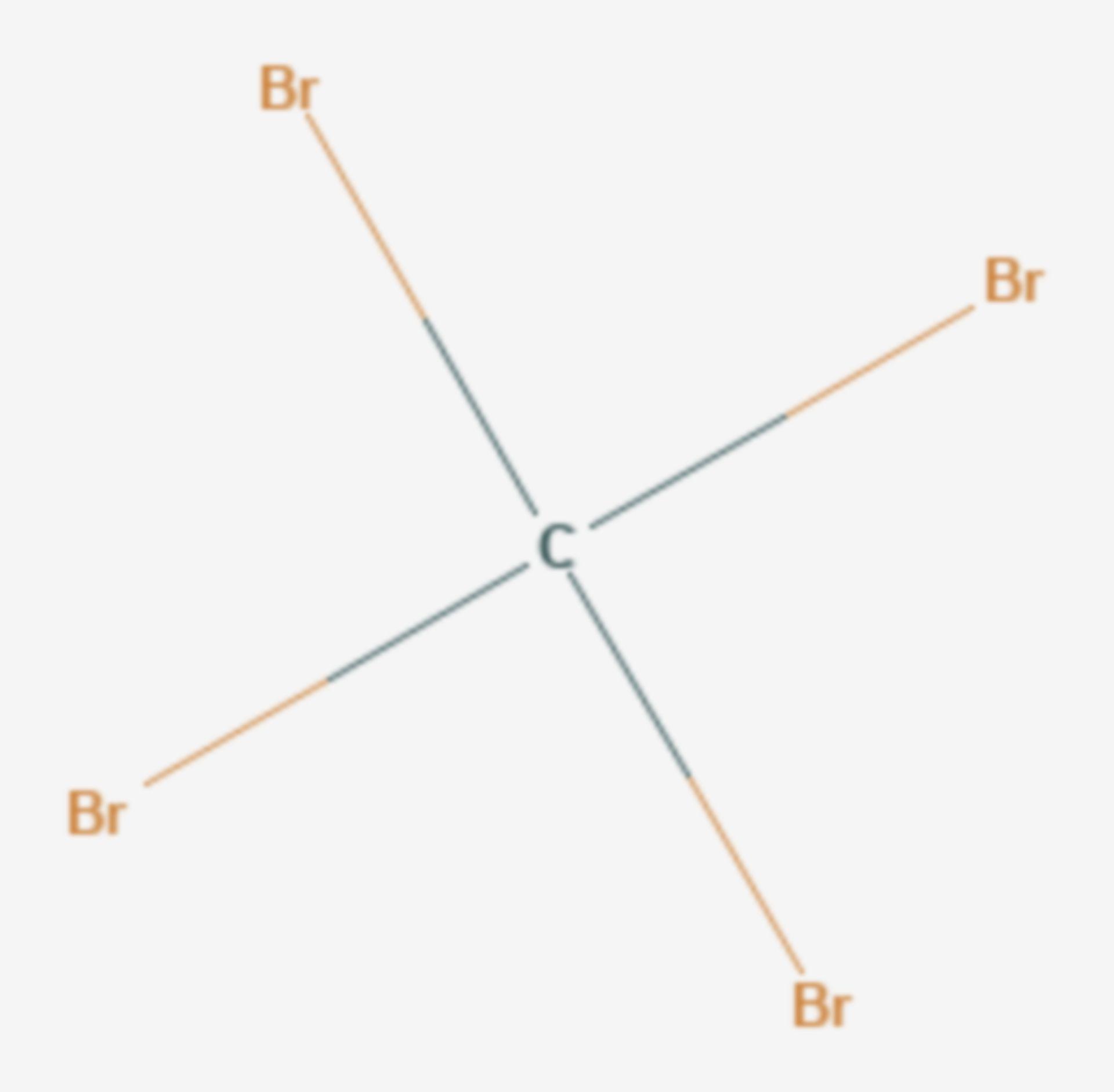 Tetrabrommethan (Strukturformel)