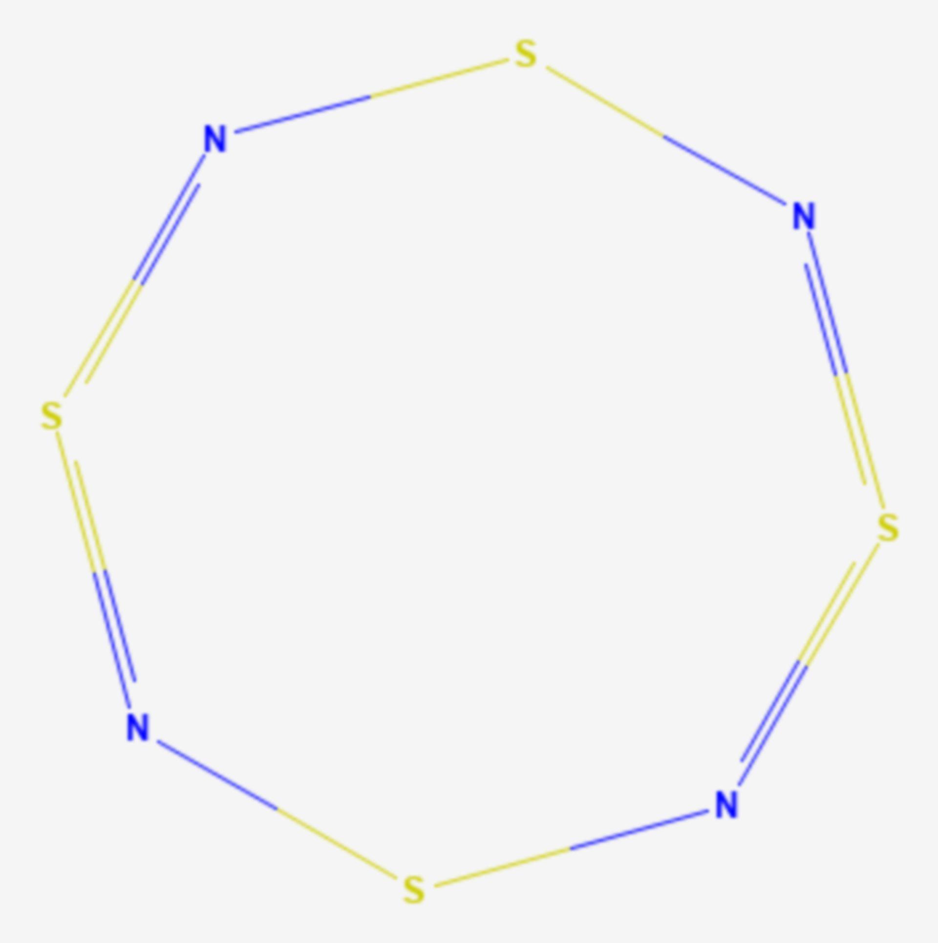 Tetraschwefeltetranitrid (Strukturformel)