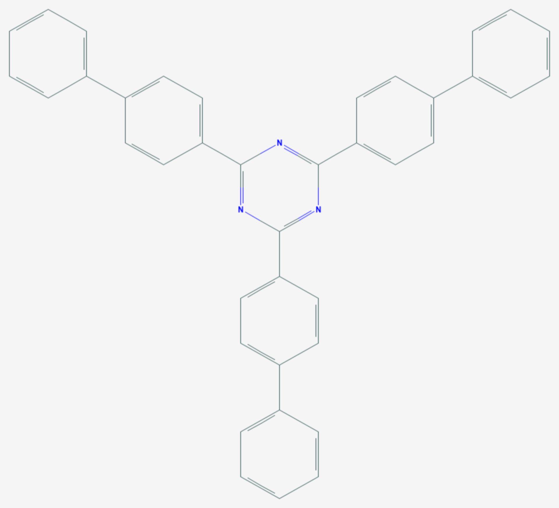 2,4,6-Tris(biphenyl-4-yl)-1,3,5-triazin (Strukturformel)