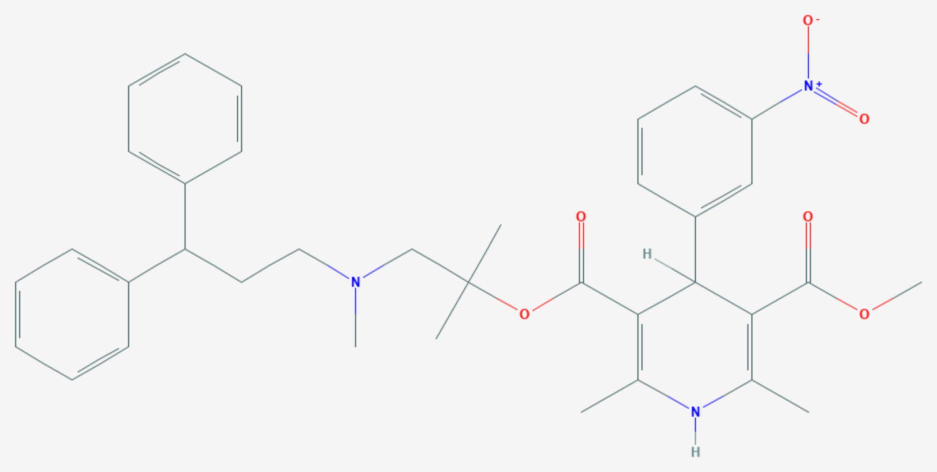 Lercanidipin (Strukturformel)