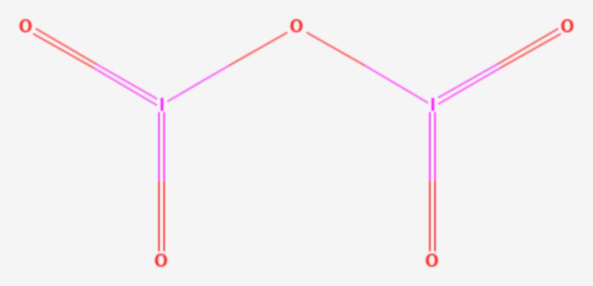 Diiodpentoxid (Strukturformel)
