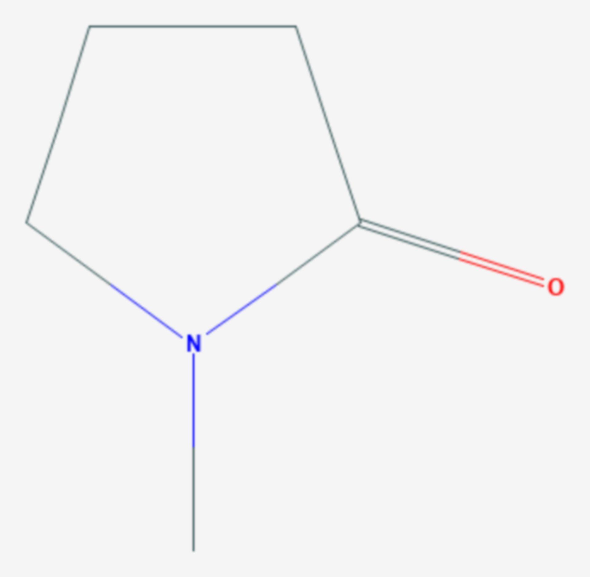 N-Methyl-2-pyrrolidon (Strukturformel)