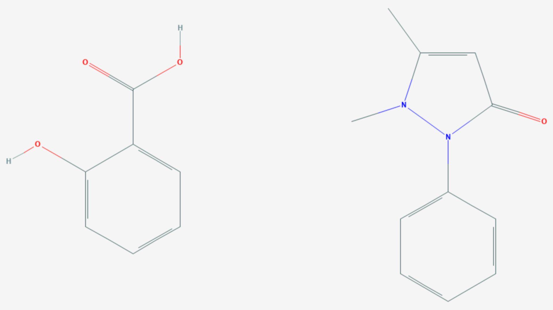 Salipyrin (Strukturformel)