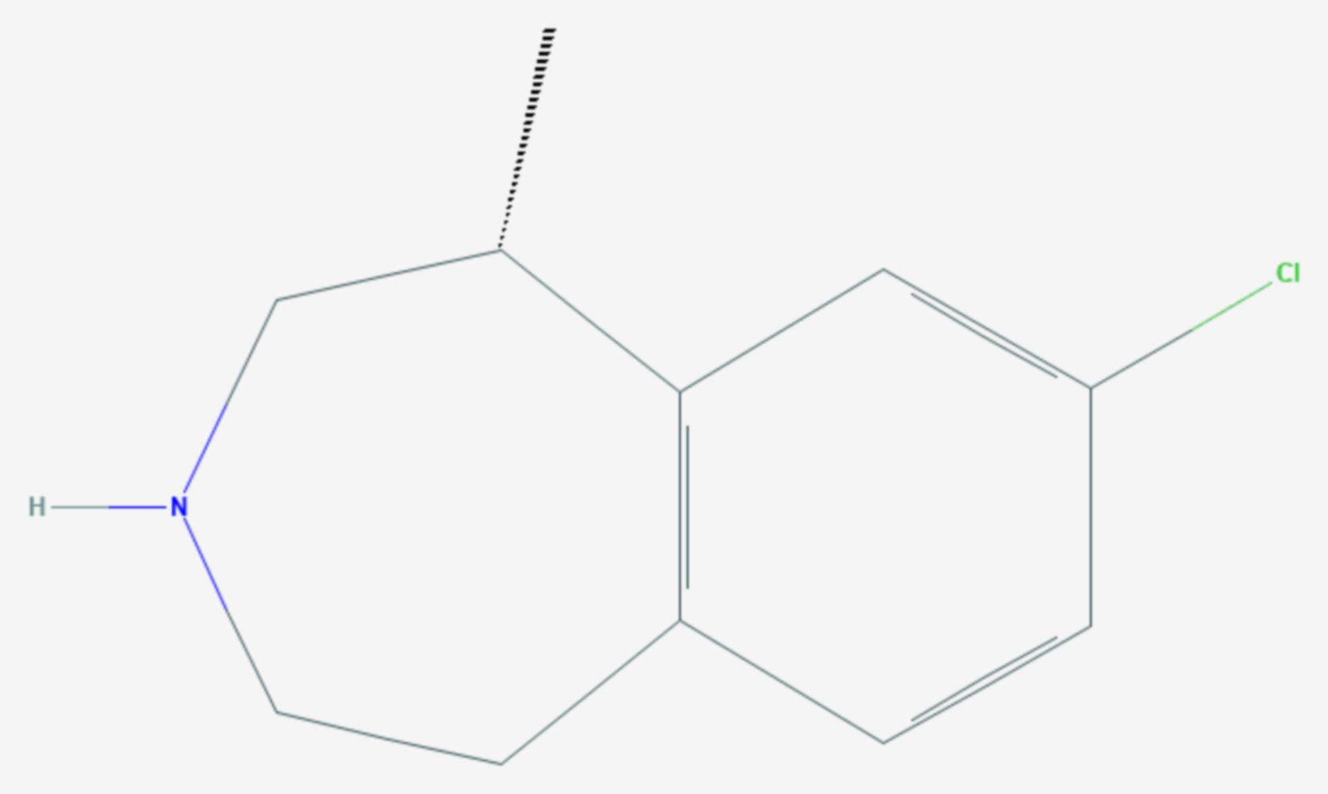 Lorcaserin (Strukturformel)