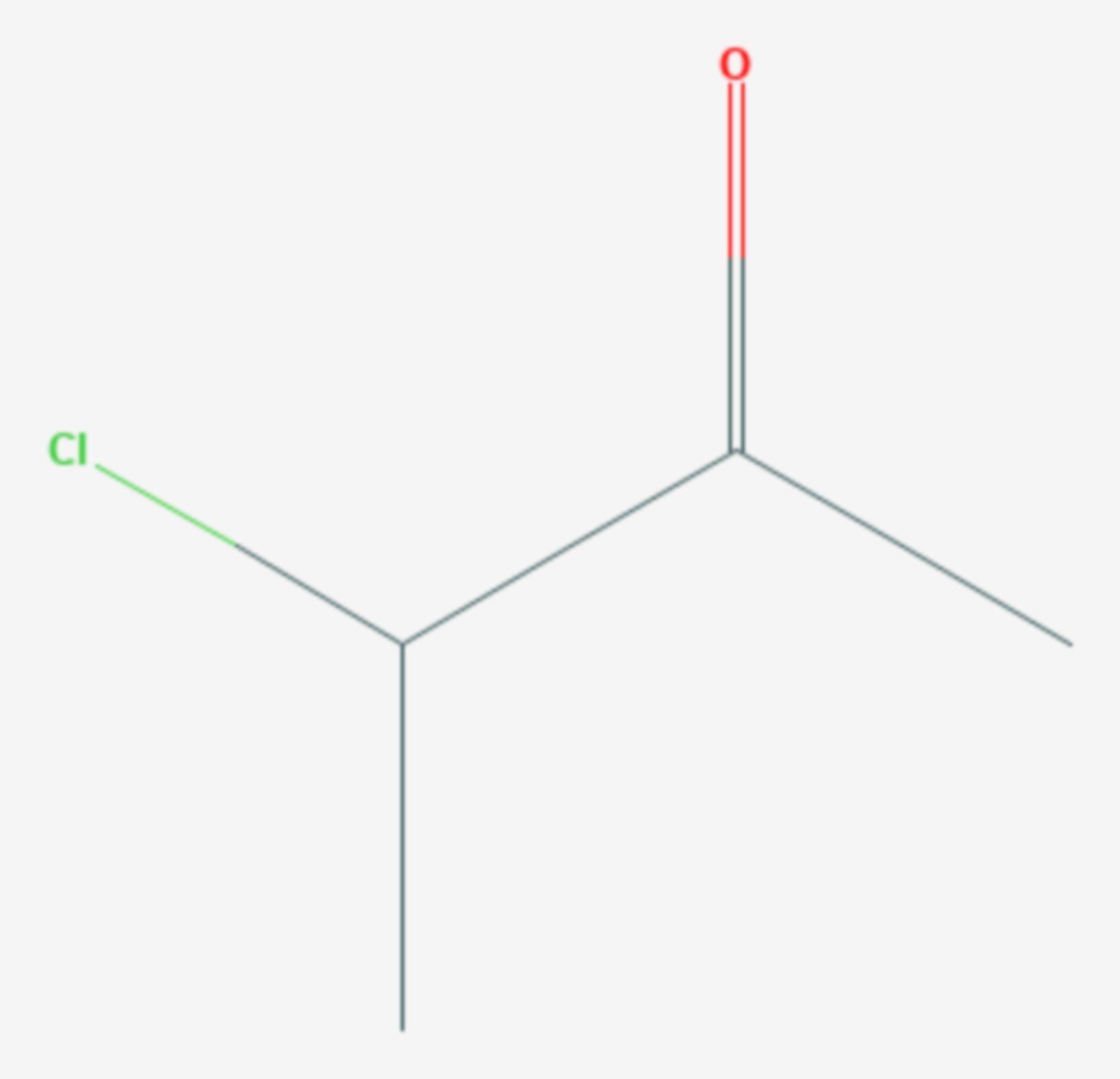 3-Chlorbutan-2-on (Strukturformel)
