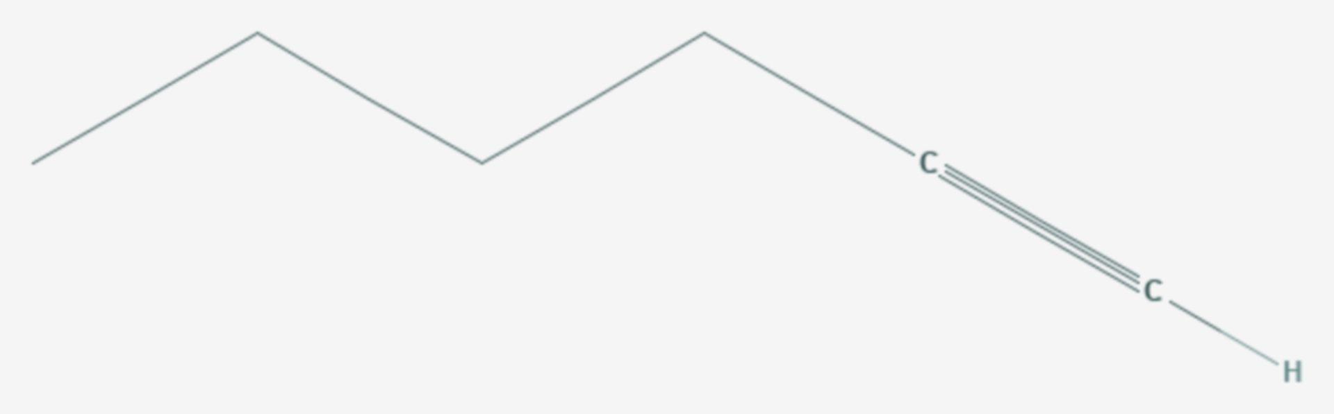 1-Hexin (Strukturformel)