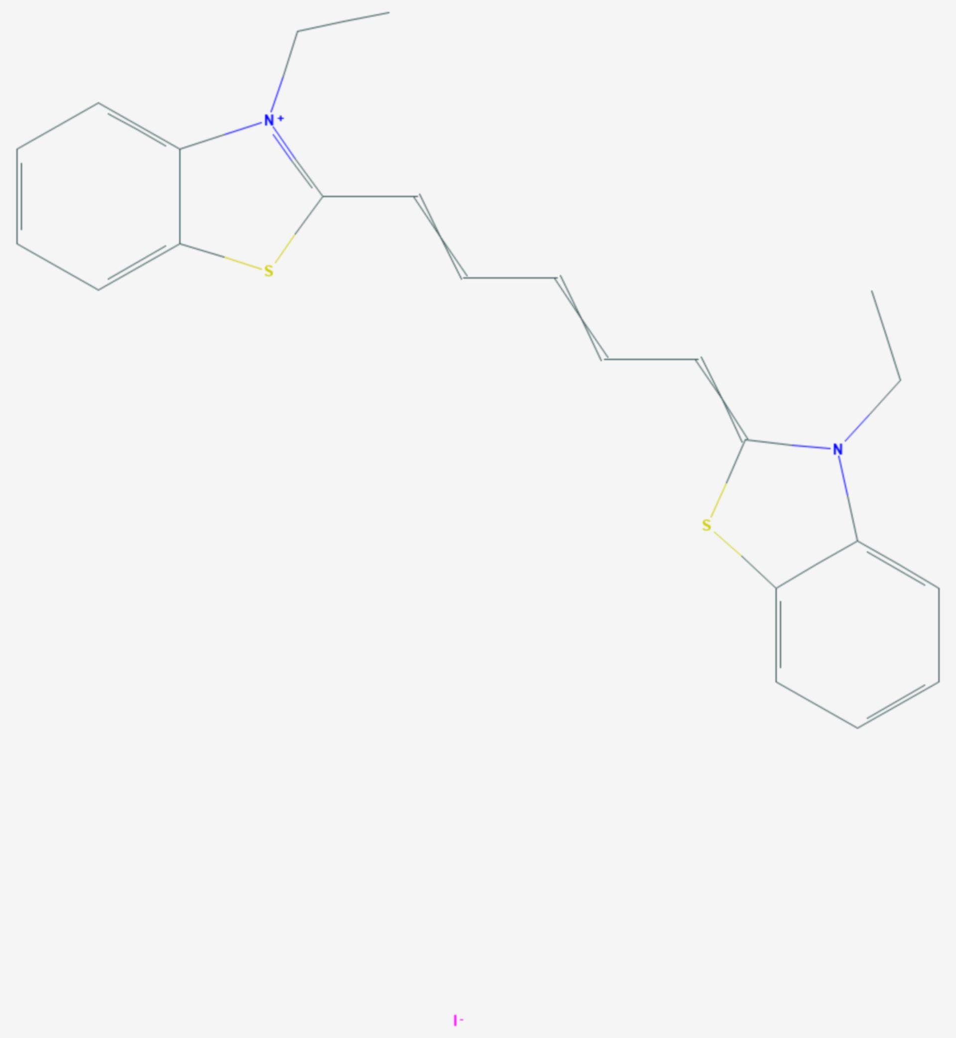 Dithiazaniniodid (Strukturformel)