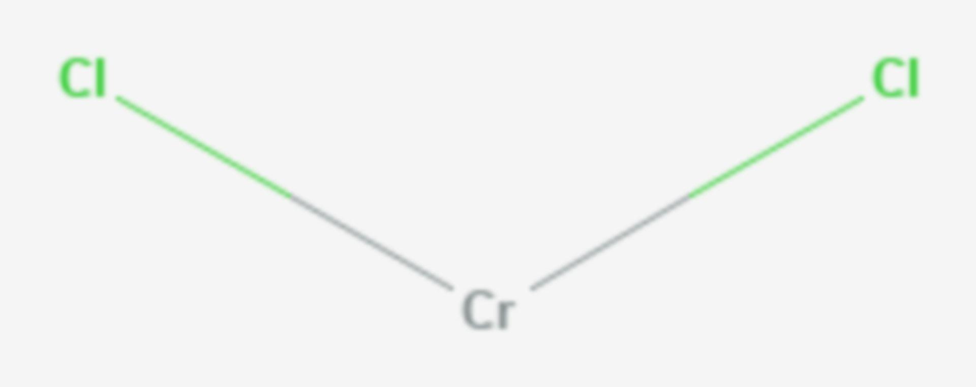 Chrom(II)-chlorid (Strukturformel)
