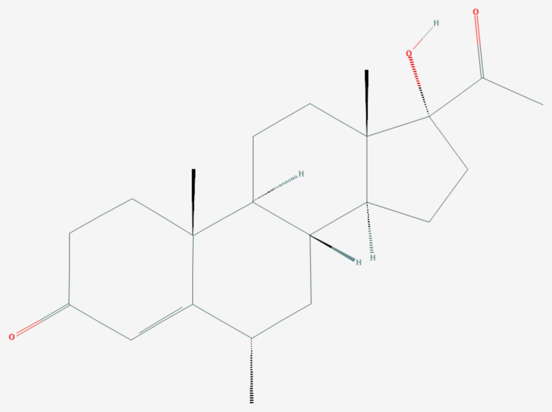 Medroxyprogesteron (Strukturformel)