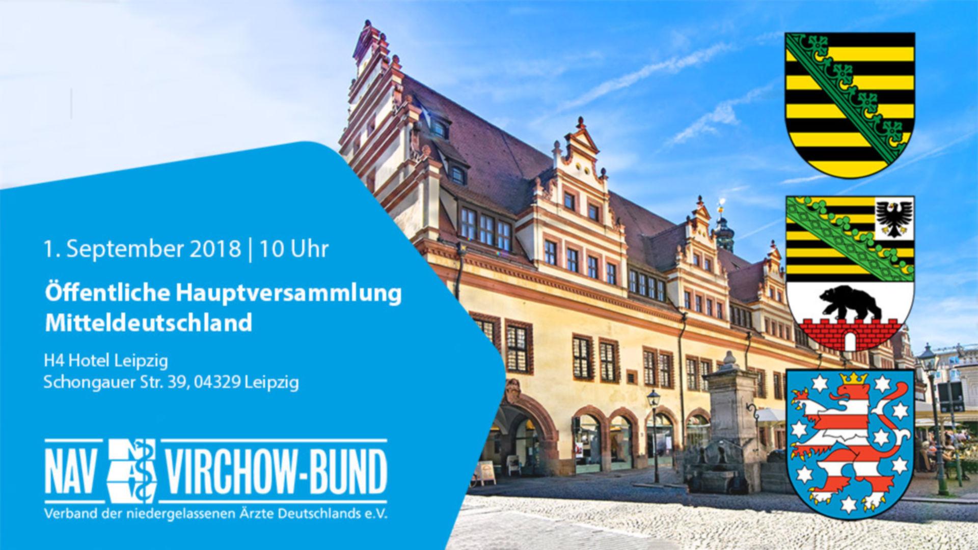 1.9.2018: Landeshauptversammlung Mitteldeutschland im NAV-Virchow-Bund