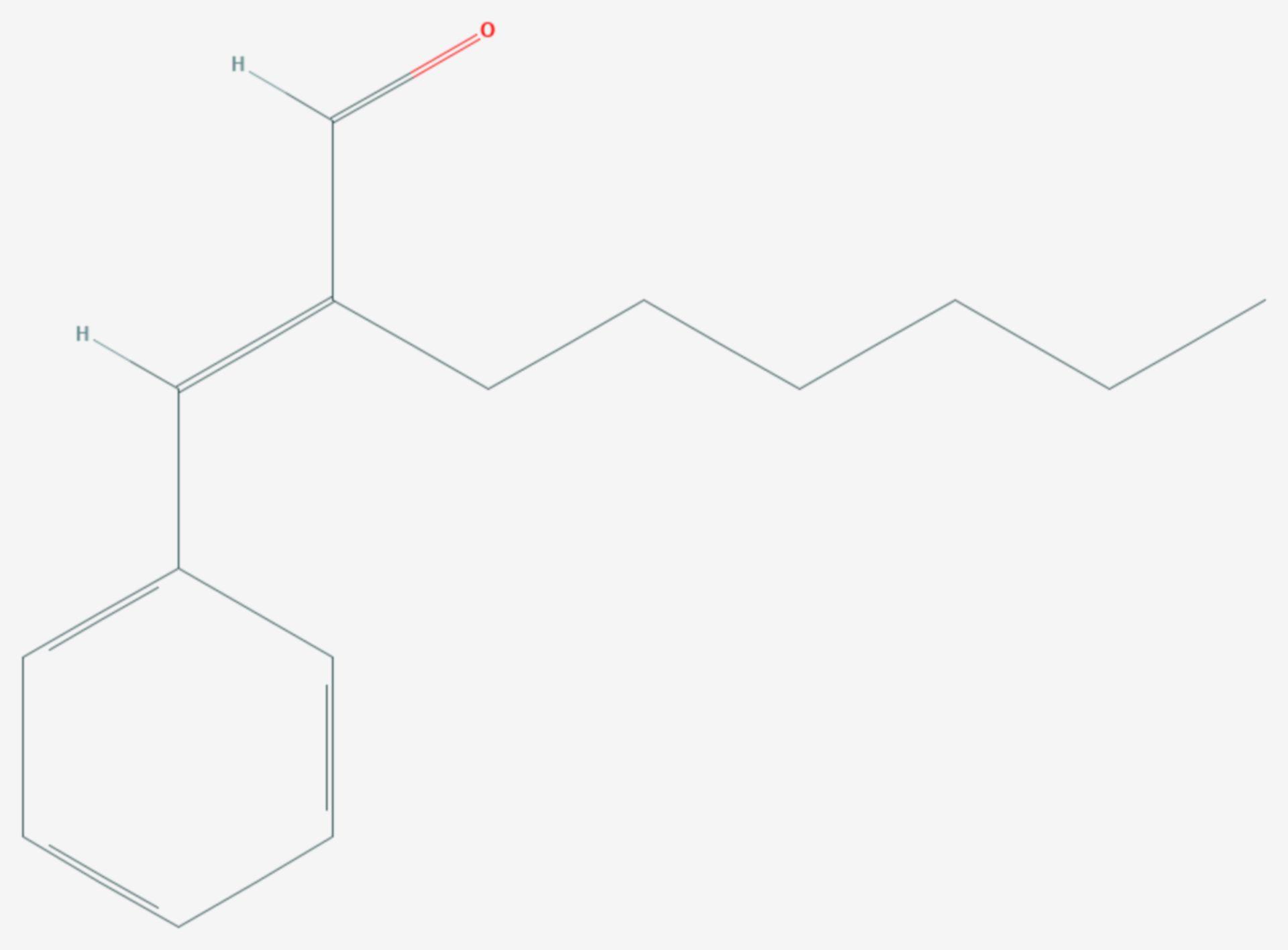 Hexylzimtaldehyd (Strukturformel)