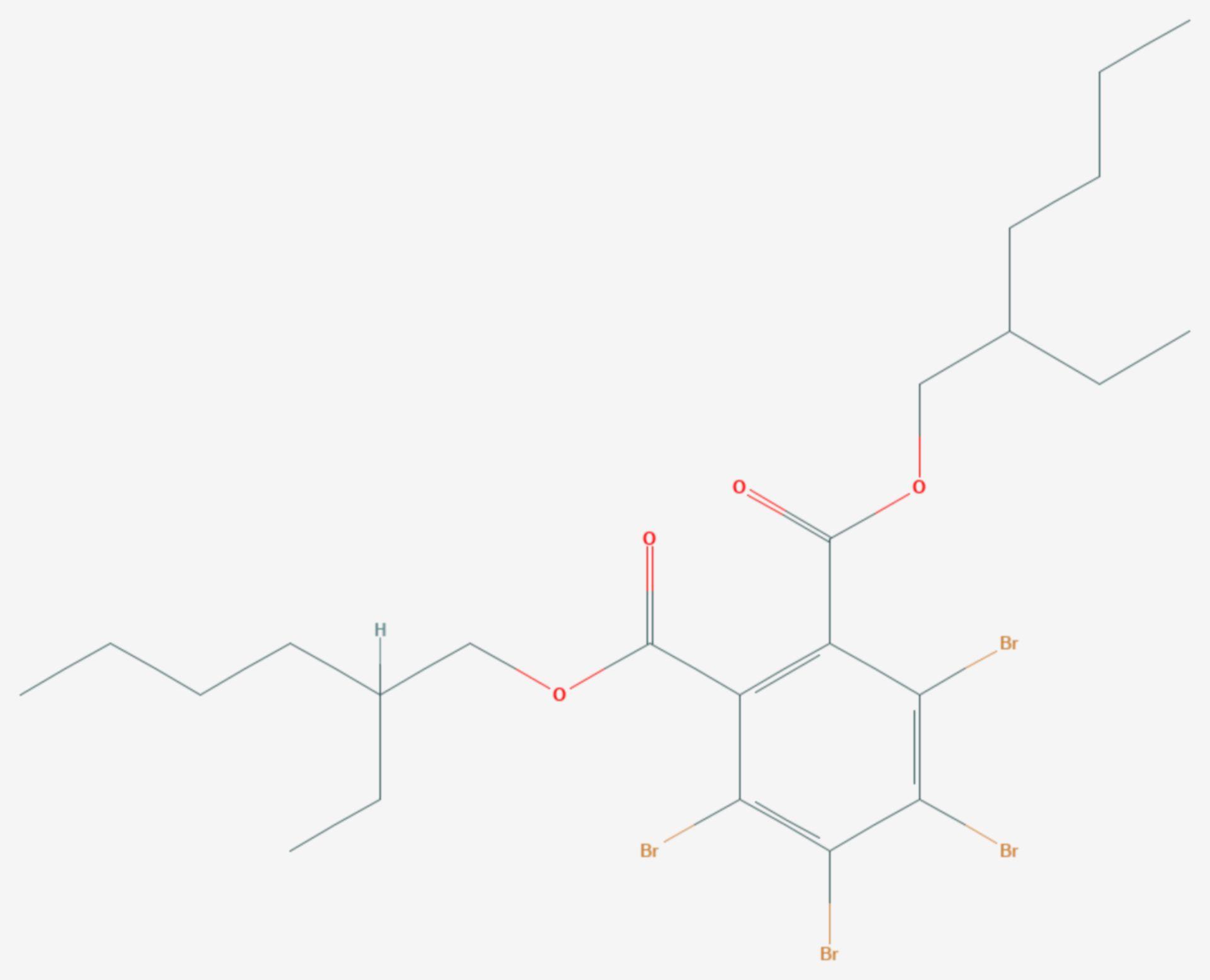 Bis(2-ethylhexyl)tetrabromphthalat (Strukturformel)