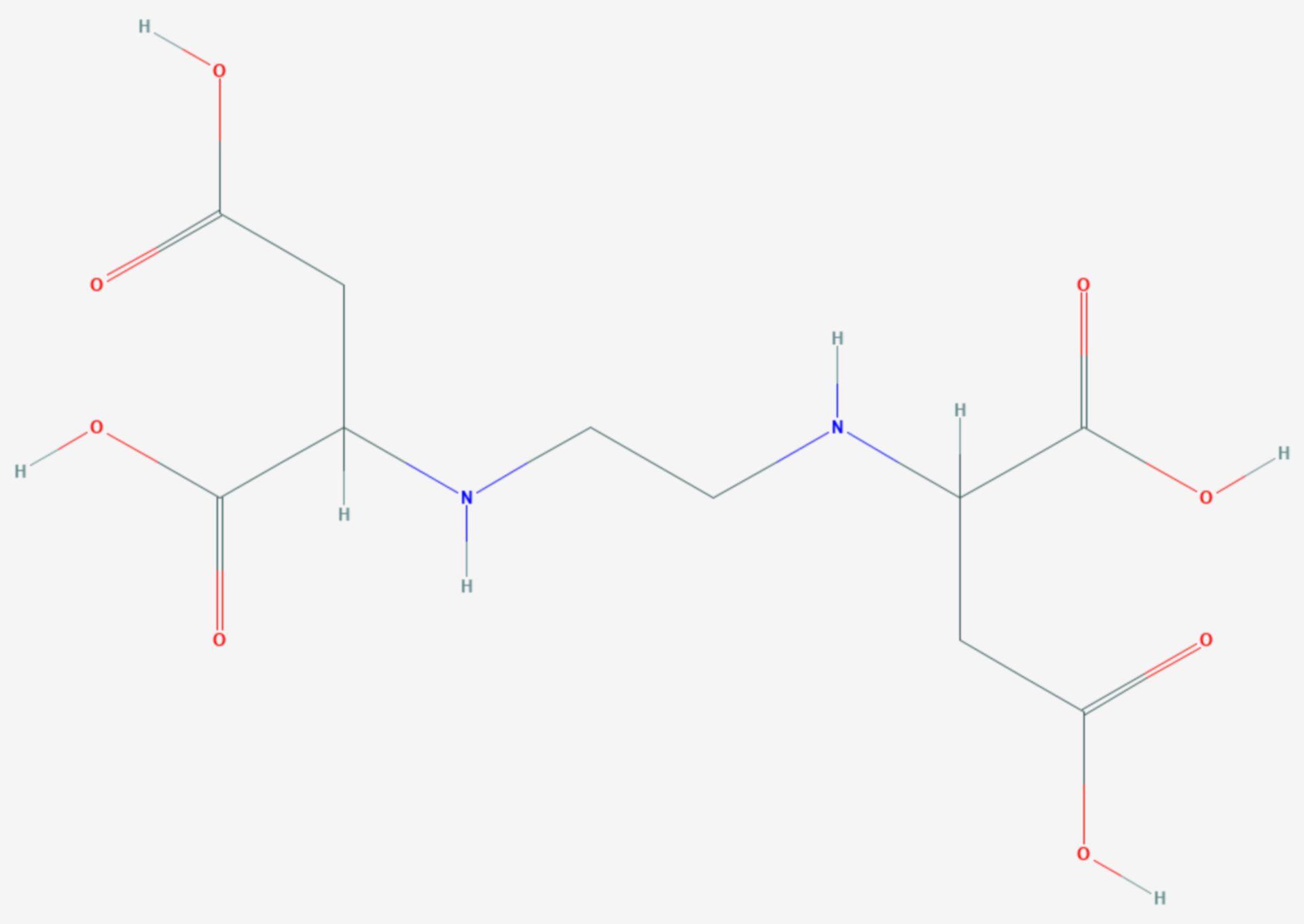 Ethylendiamindibernsteinsäure (Strukturformel)