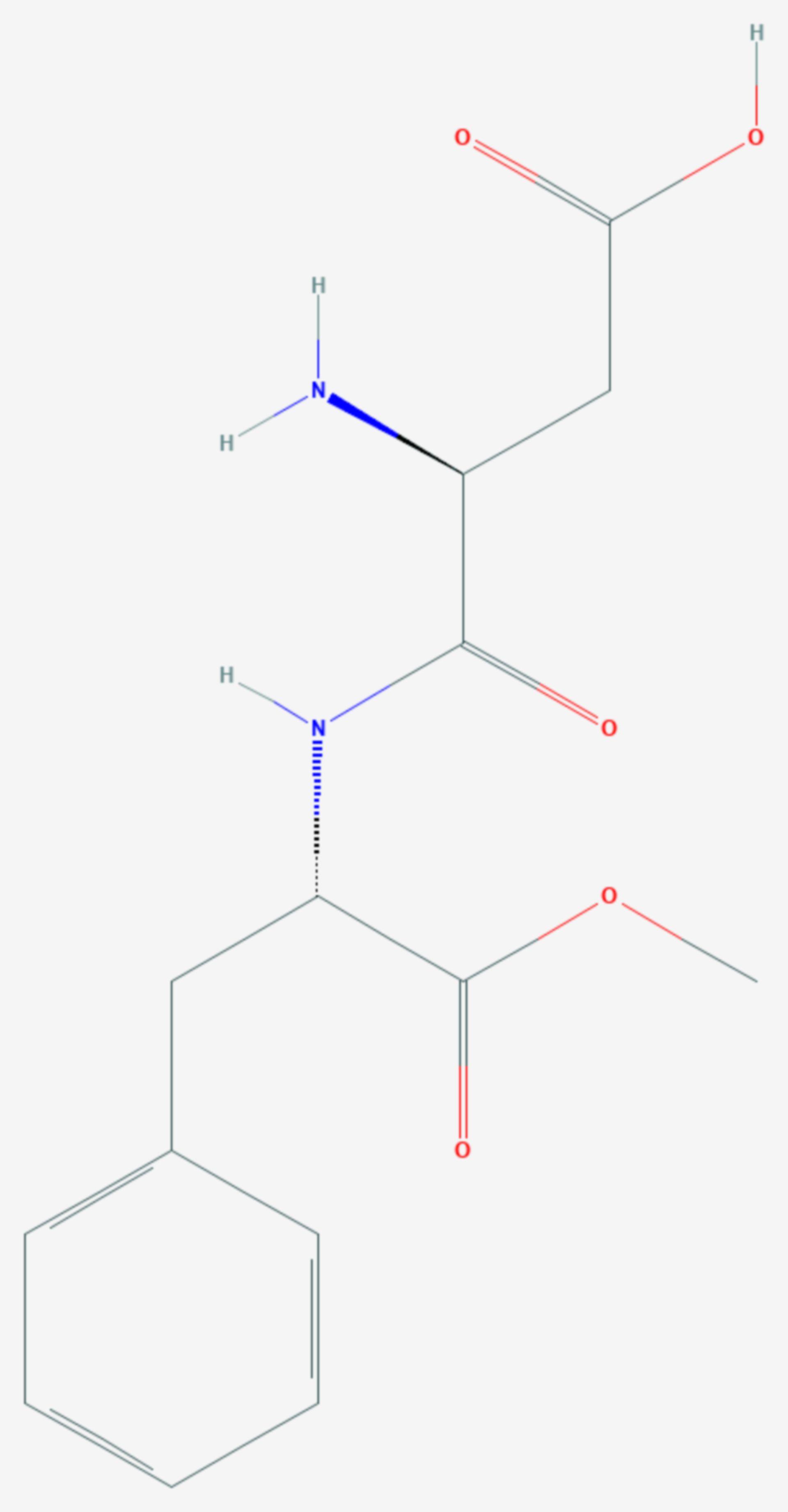 Aspartam (Strukturformel)