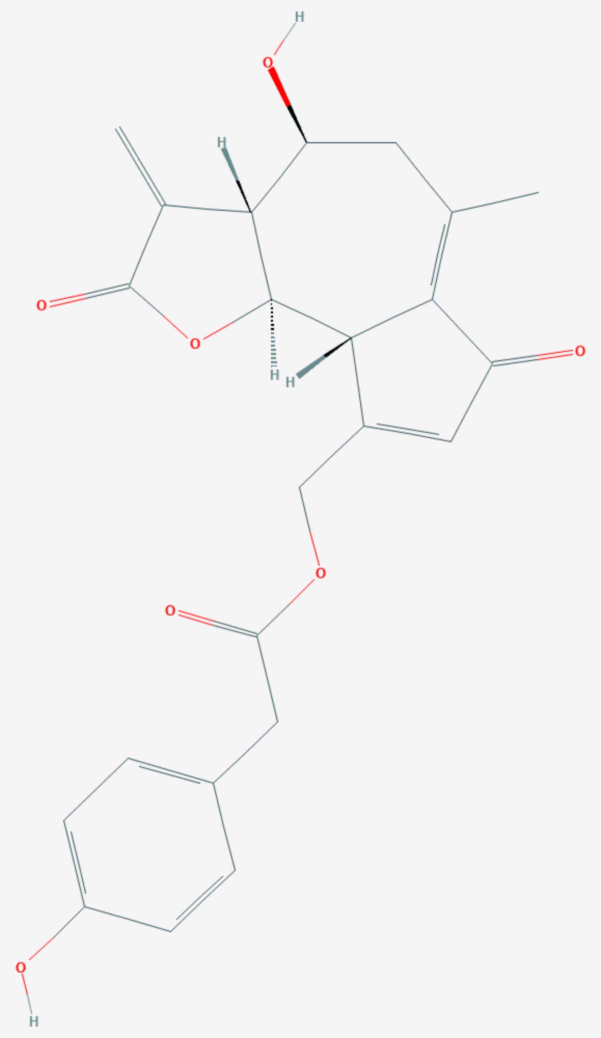 Lactucopikrin (Strukturformel)