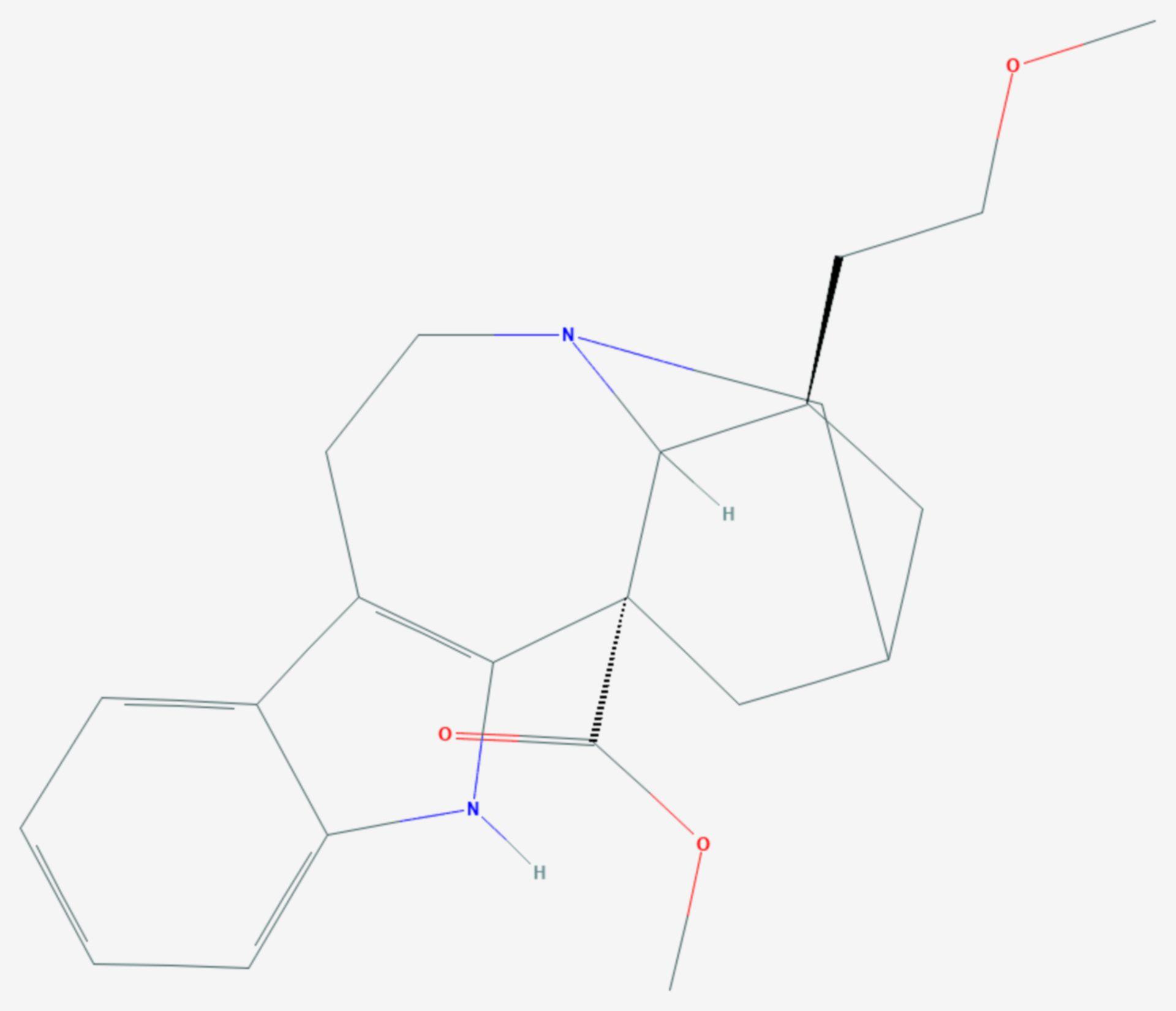 18-Methoxycoronaridin (Strukturformel)