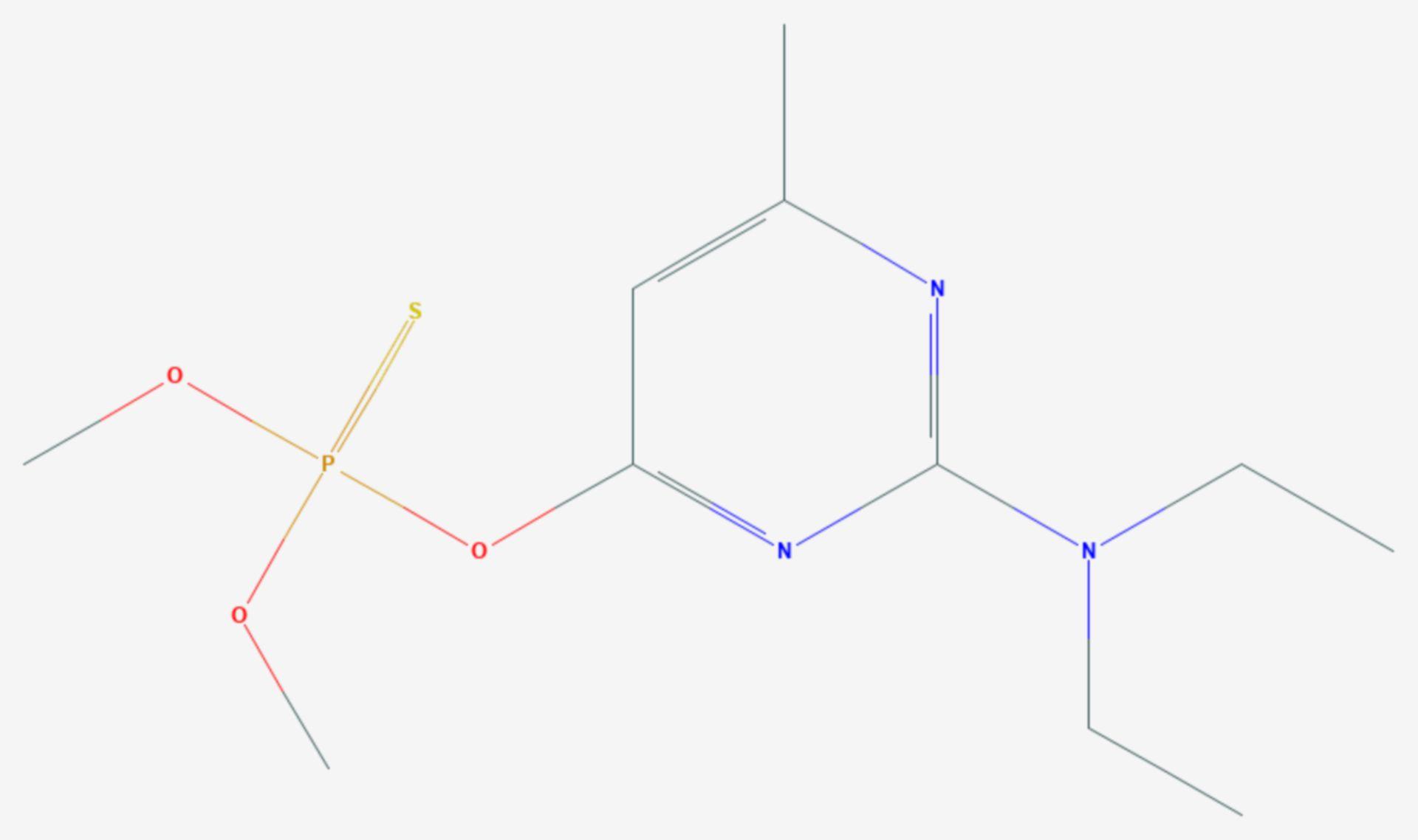 Pirimiphos-methyl (Strukturformel)
