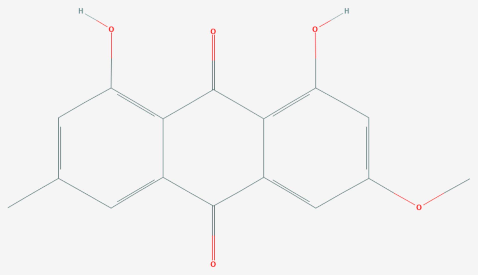 Parietin (Strukturformel)