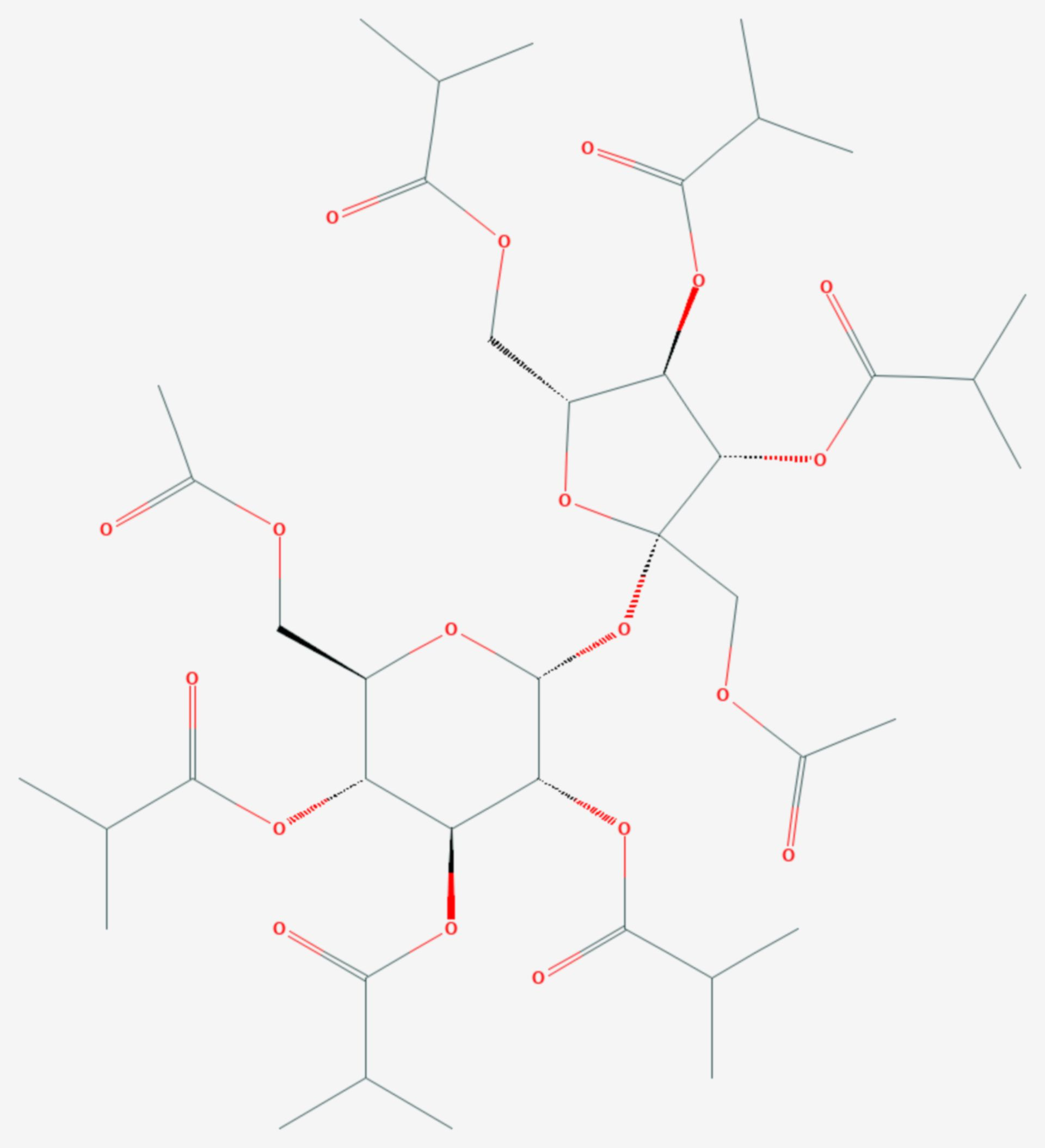 Saccharoseacetatisobutyrat (Strukturformel)