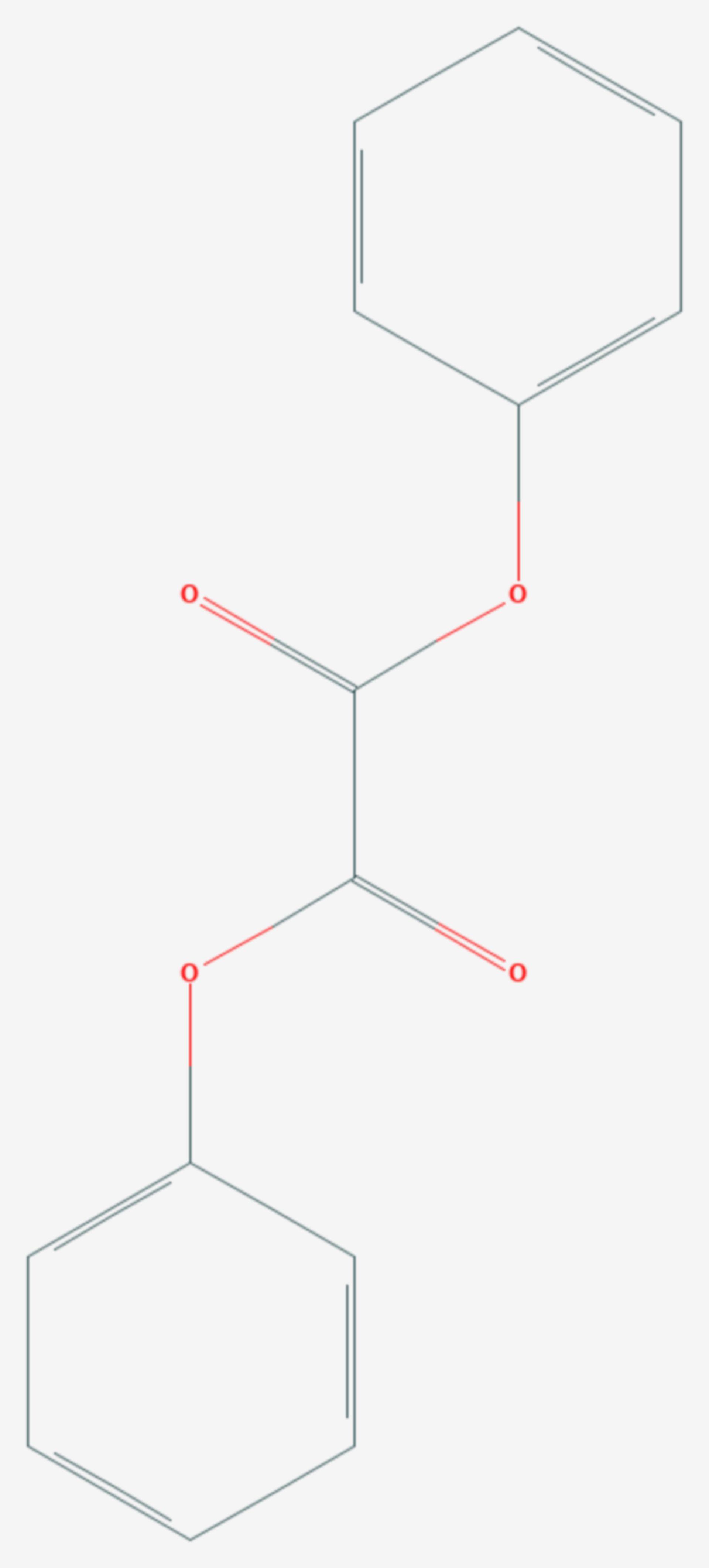 Oxalsäurediphenylester (Strukturformel)