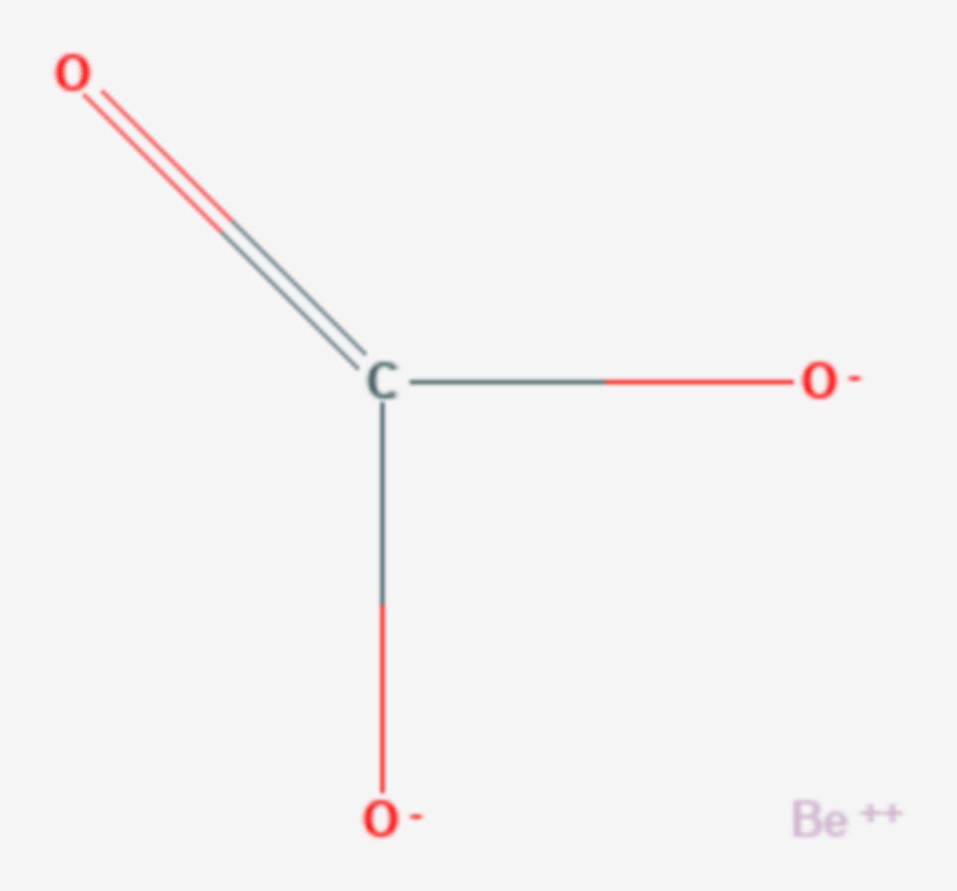 Berylliumcarbonat (Strukturformel)